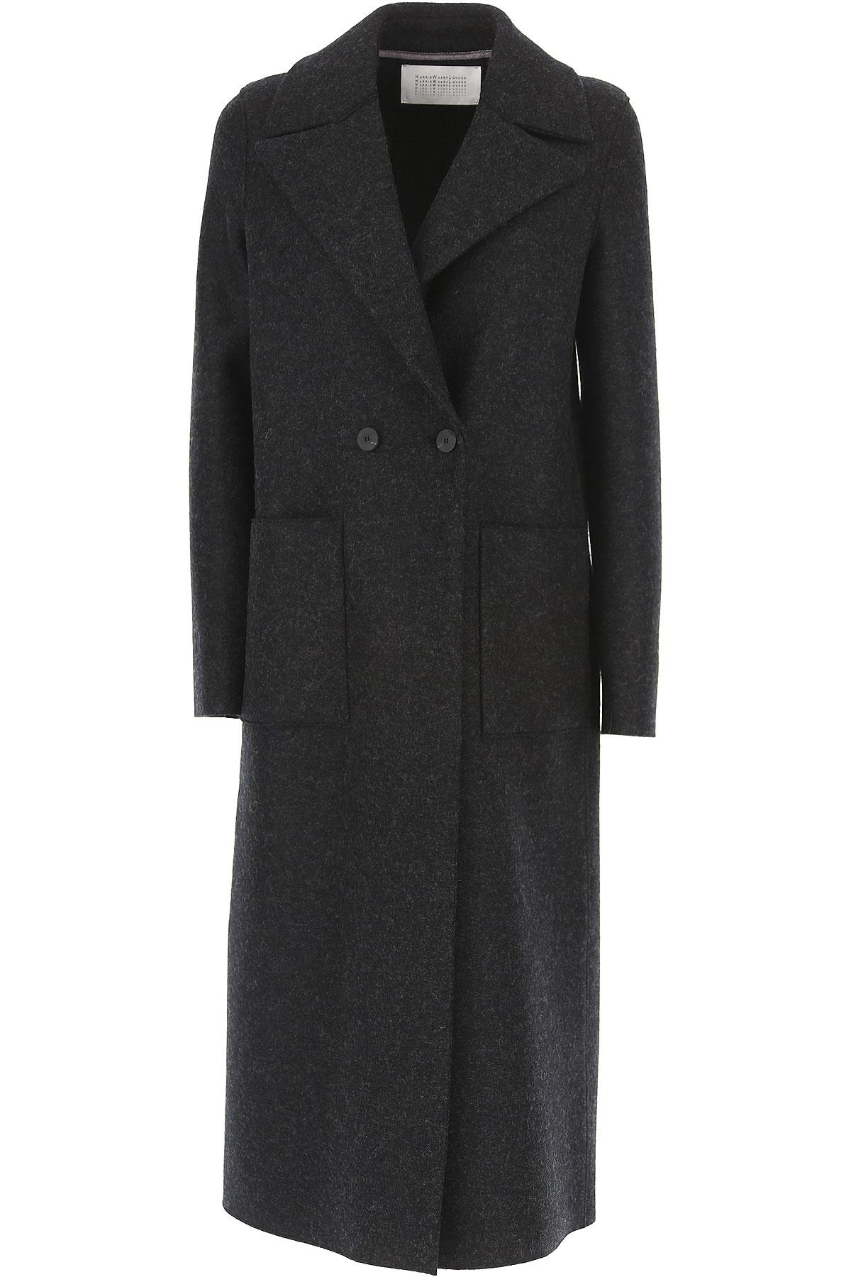 Image of Harris Wharf London Women\'s Coat On Sale, antracite, Virgin wool, 2017, 4 6 8