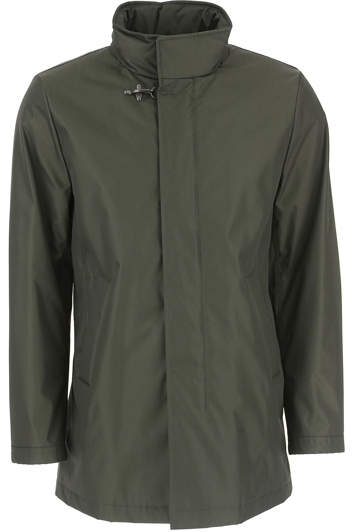 Image of Harris Wharf London Men\'s Coat, Black, Virgin wool, 2017, L M S