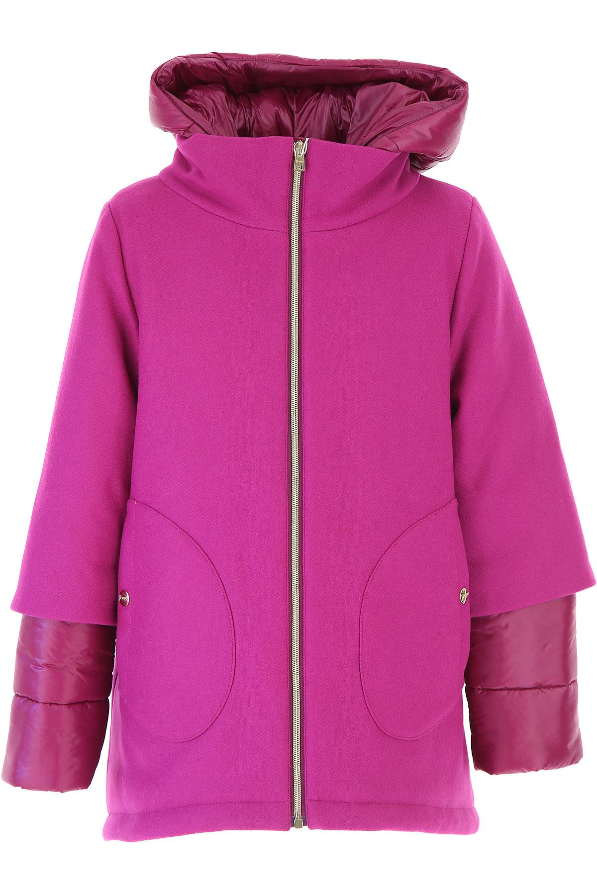 Image of Herno {DESIGNER} Kids Coat for Girls, Fuchsia, Wool, 2017, 10Y 14Y 8Y