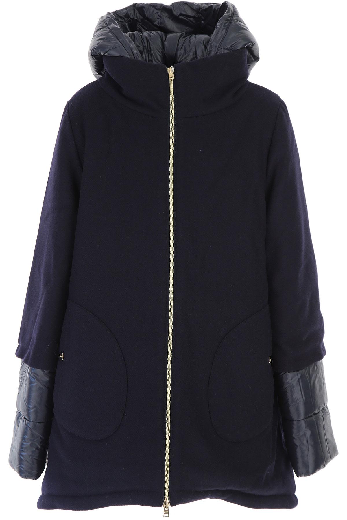 Image of Herno {DESIGNER} Kids Coat for Girls, Blue, Wool, 2017, 10Y 14Y 8Y