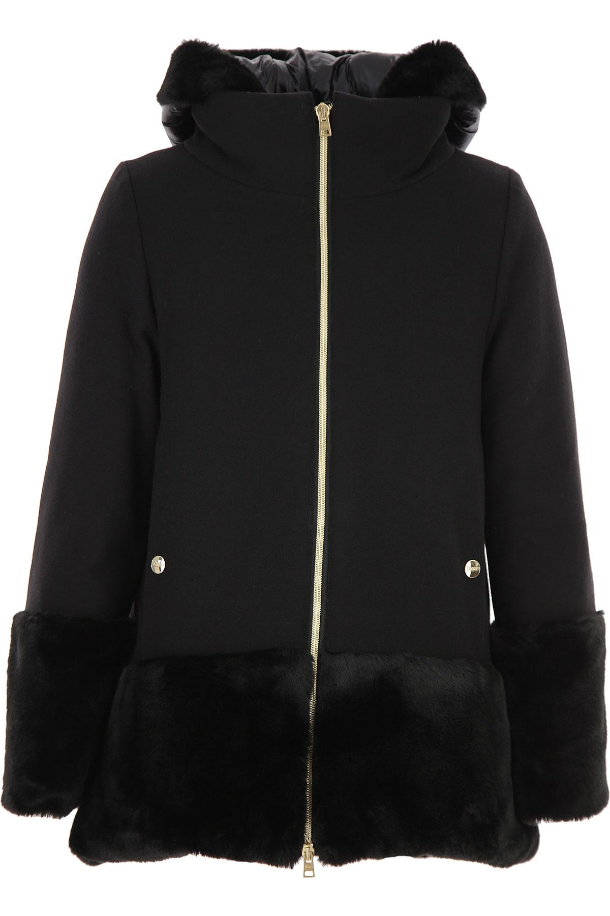 Herno {DESIGNER} Kids Coat for Girls On Sale, Black, Wool, 2019, 10Y 8Y