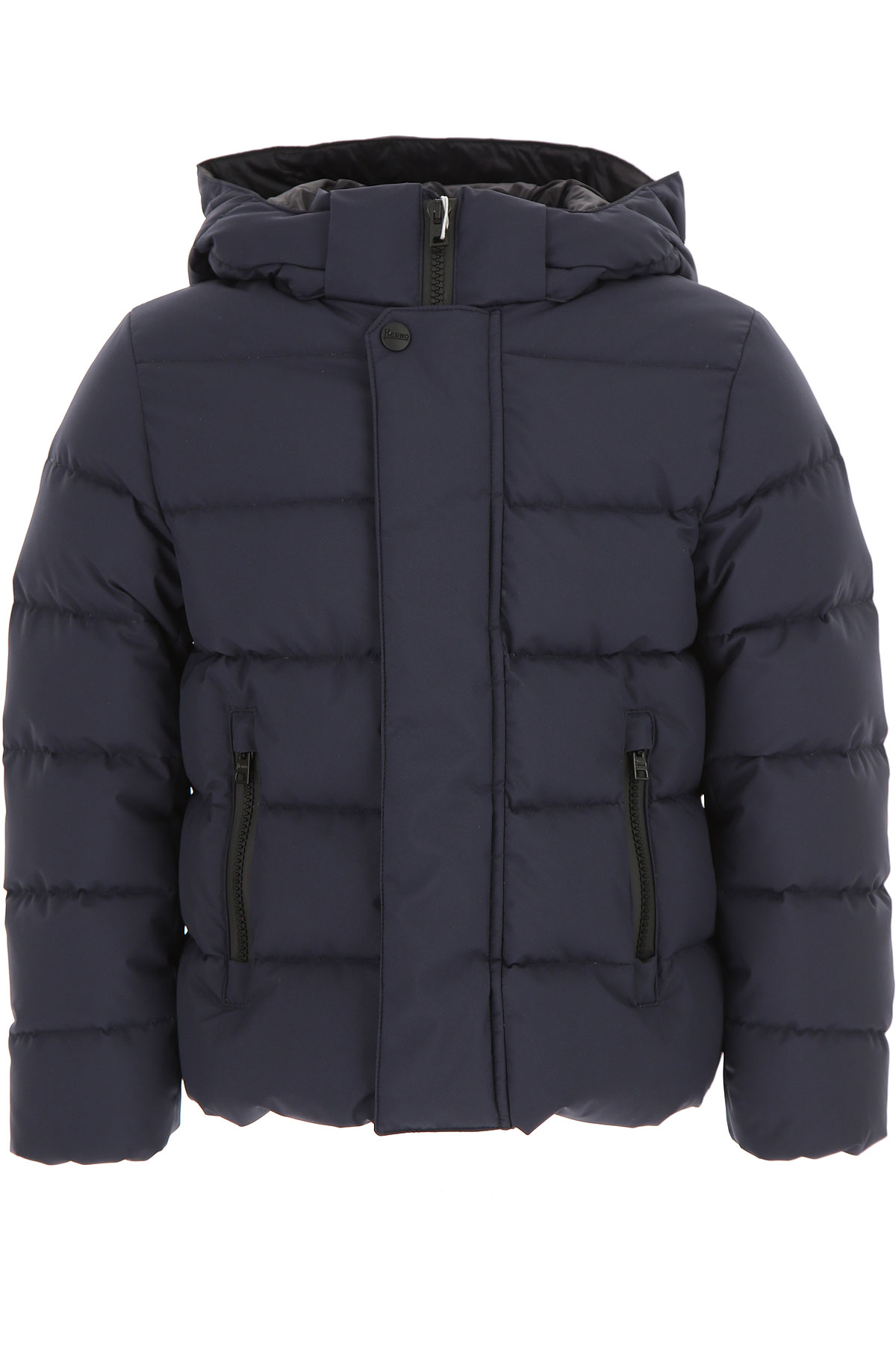 Image of Herno Boys Down Jacket for Kids, Puffer Ski Jacket, Navy Blue, polyester, 2017, 10Y 4Y 6Y 8Y