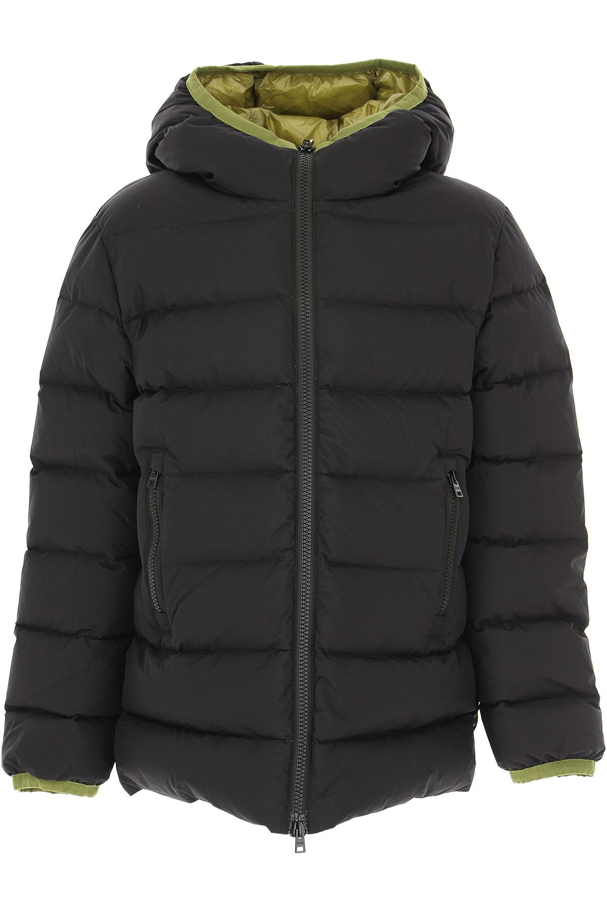 Image of Herno Boys Down Jacket for Kids, Puffer Ski Jacket, Black, polyamide, 2017, 10Y 14Y 8Y