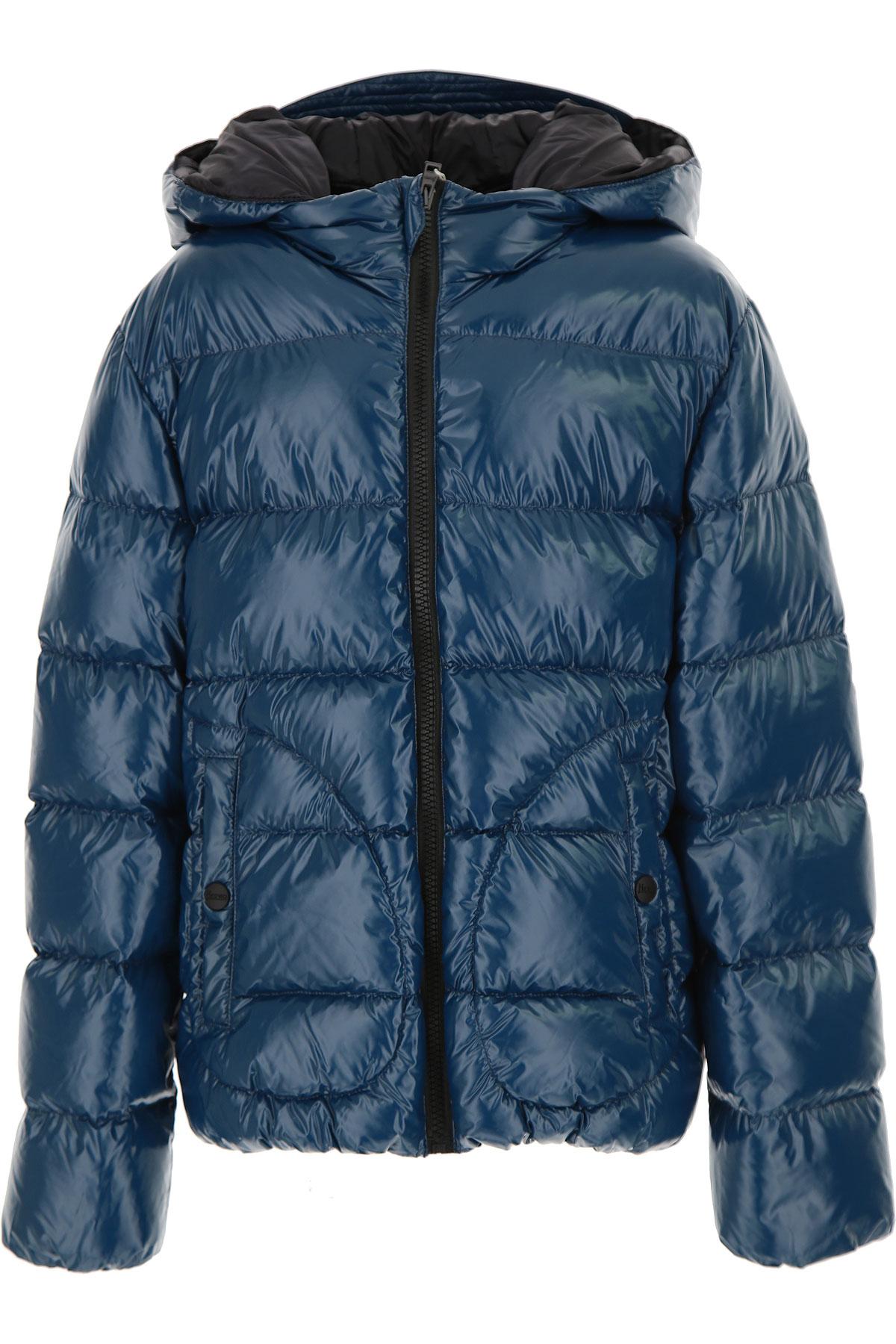 Herno Boys Down Jacket for Kids, Puffer Ski Jacket On Sale, Avio Blue, polyamide, 2019, 10Y 12Y