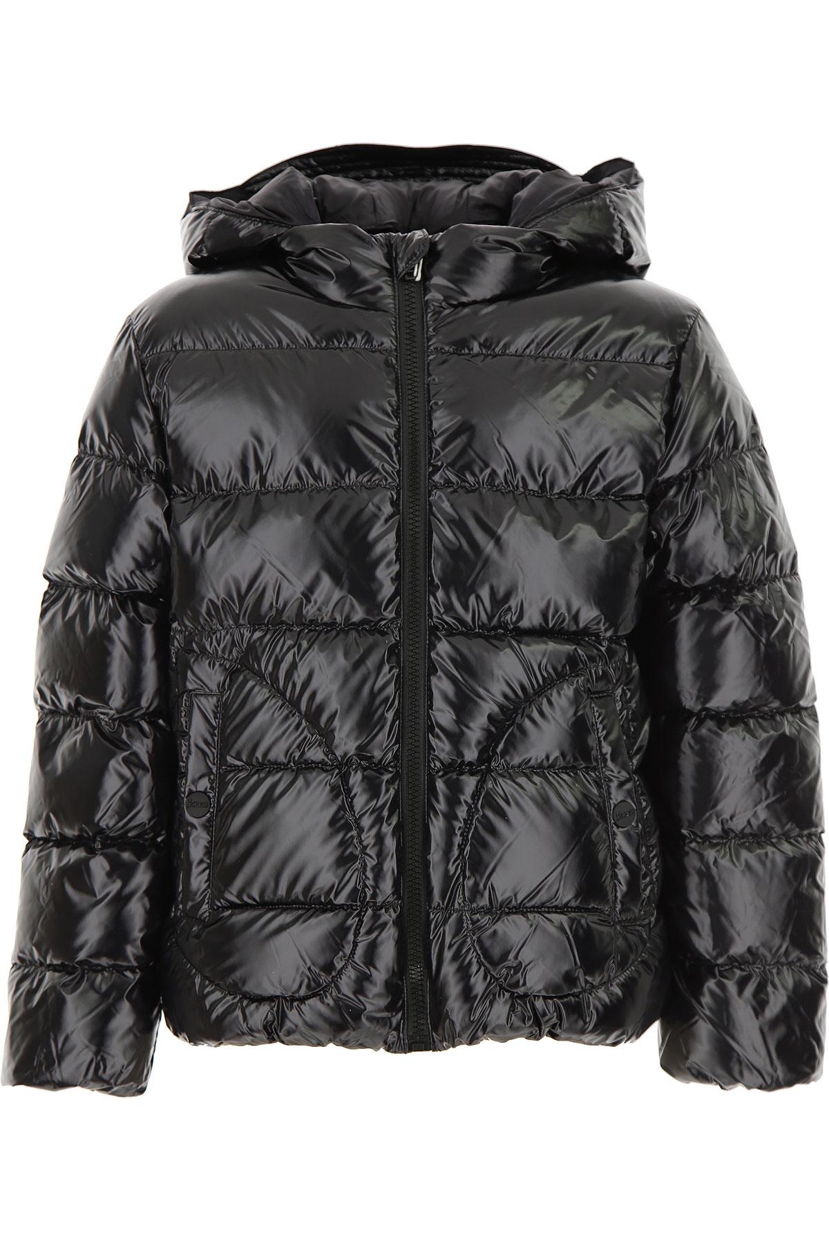 Herno Boys Down Jacket for Kids, Puffer Ski Jacket On Sale, Black, polyamide, 2019, 10Y 8Y