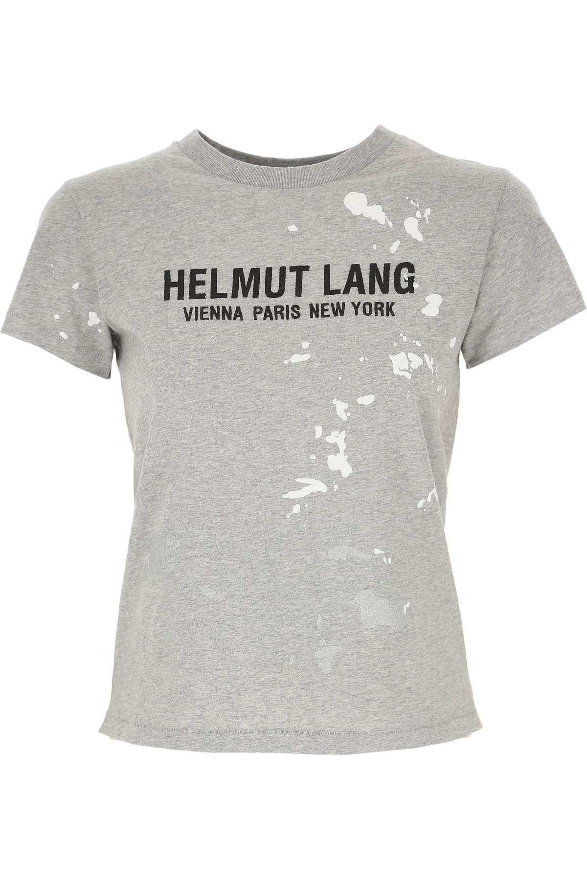 Helmut Lang T-Shirt for Women On Sale, Grey, Cotton, 2019, 4 6