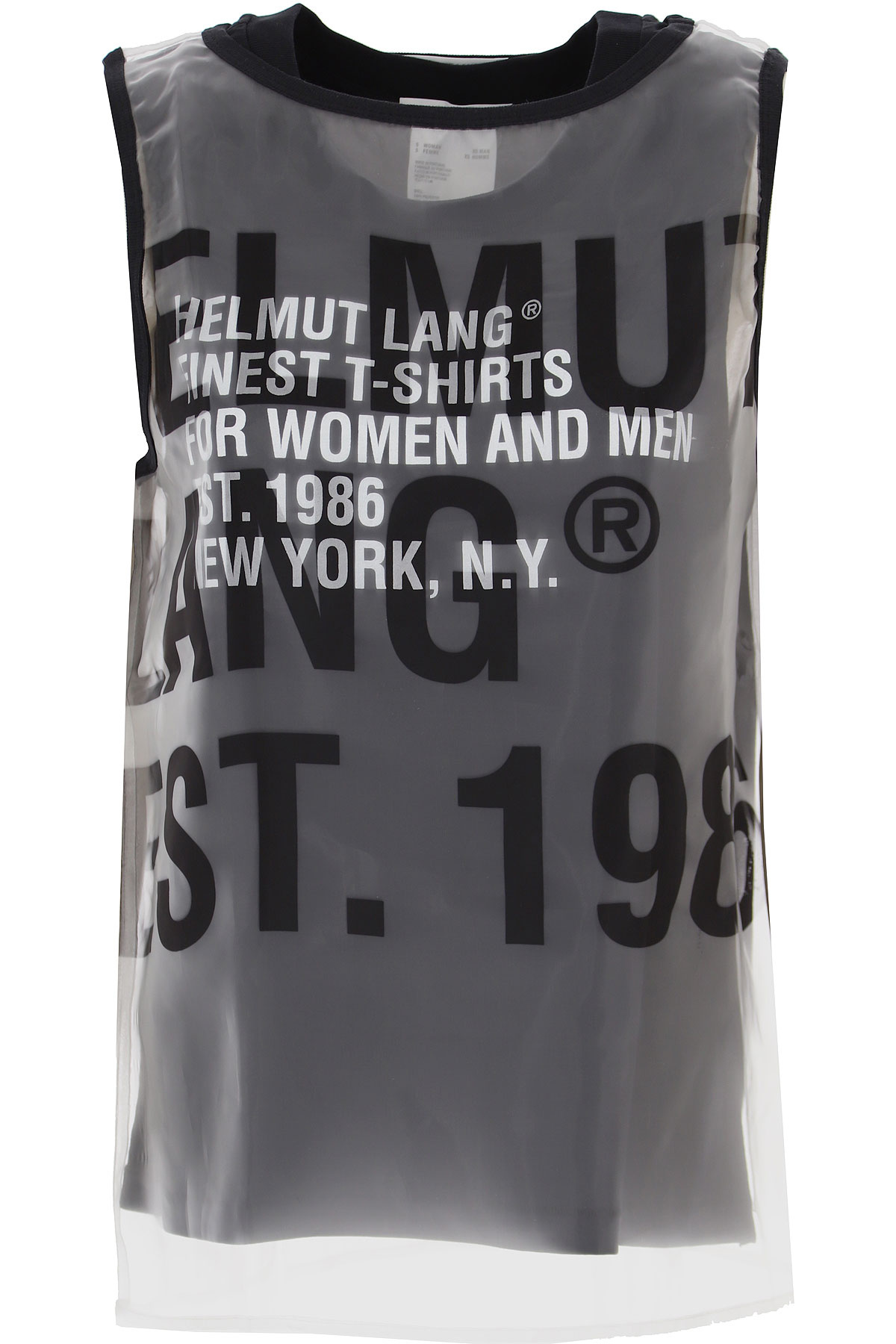 Helmut Lang Tank Top for Women On Sale, Black, polyester, 2019, 4 6