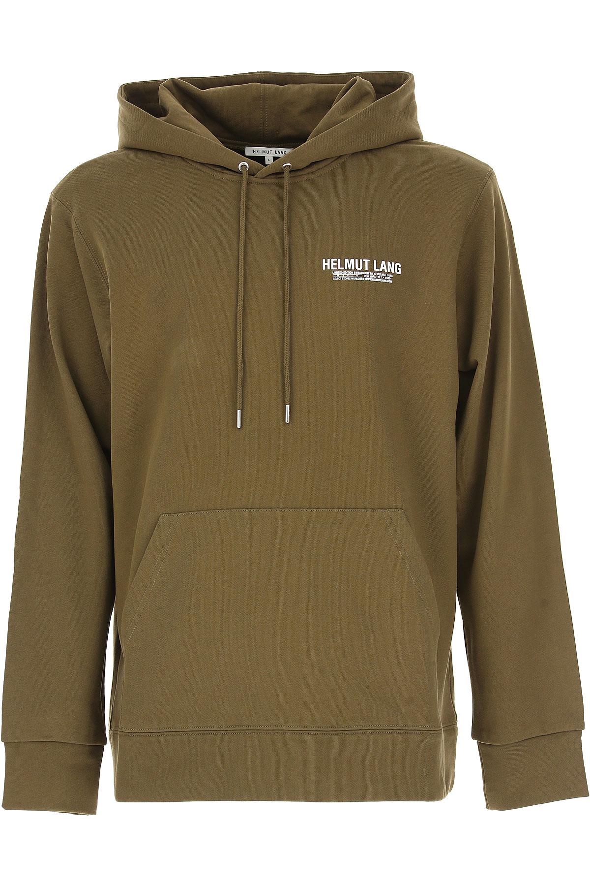 Image of Helmut Lang Sweatshirt for Men, Kaki, Cotton, 2017, L M