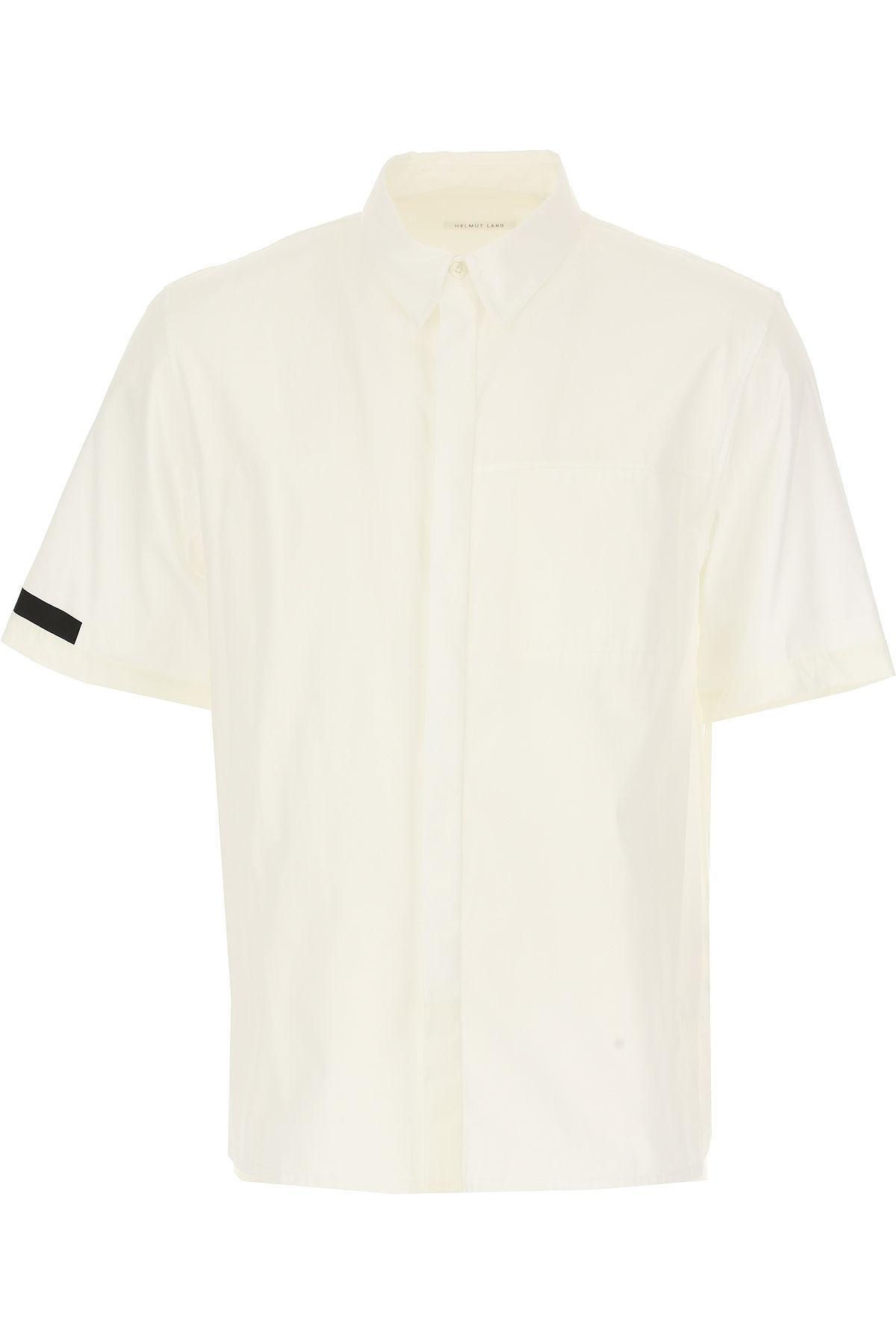 Image of Helmut Lang Shirt for Men, White, Cotton, 2017, S • IT 46 M • IT 48 L • IT 50