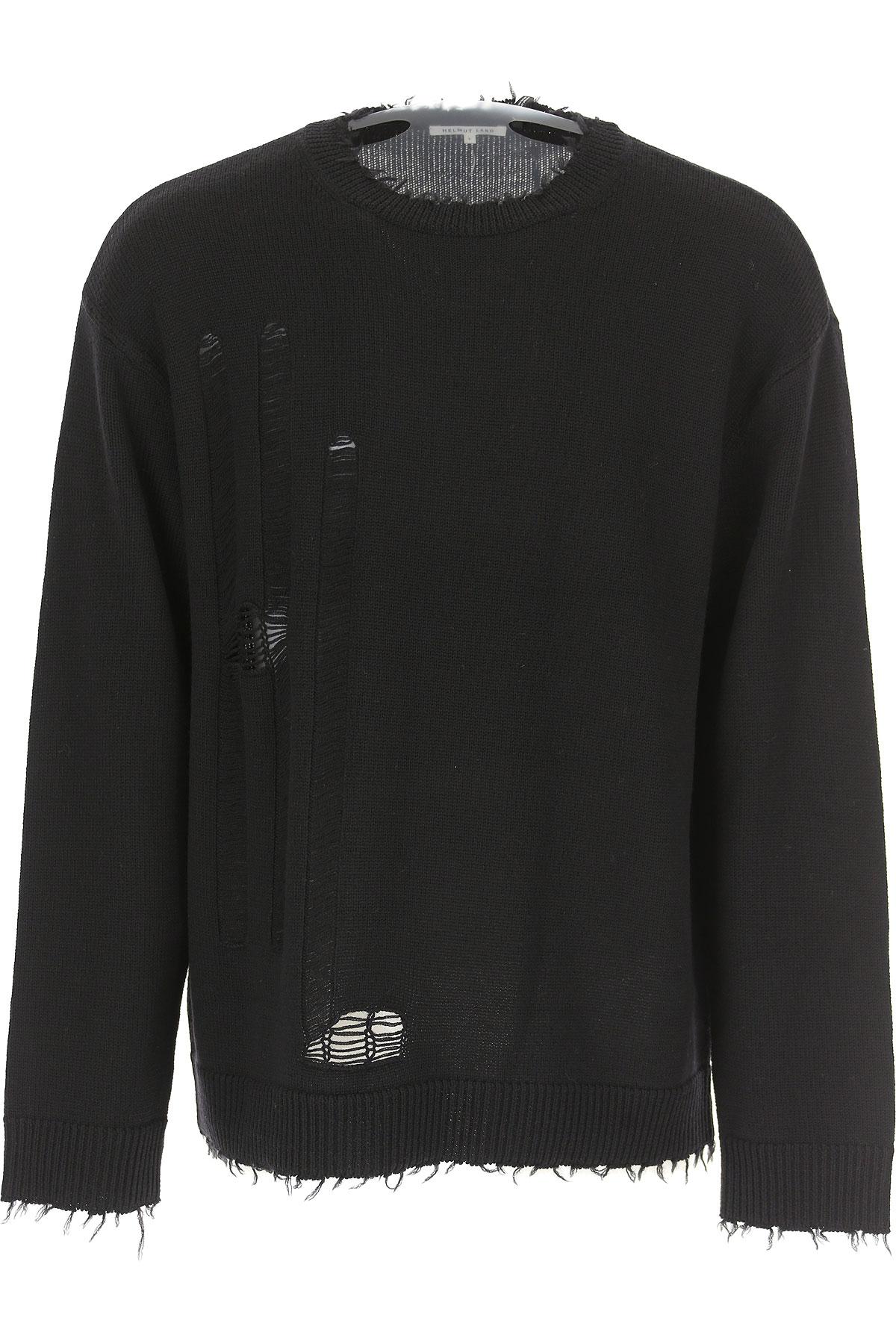 Image of Helmut Lang Sweater for Men Jumper, Black, Wool, 2017, M S