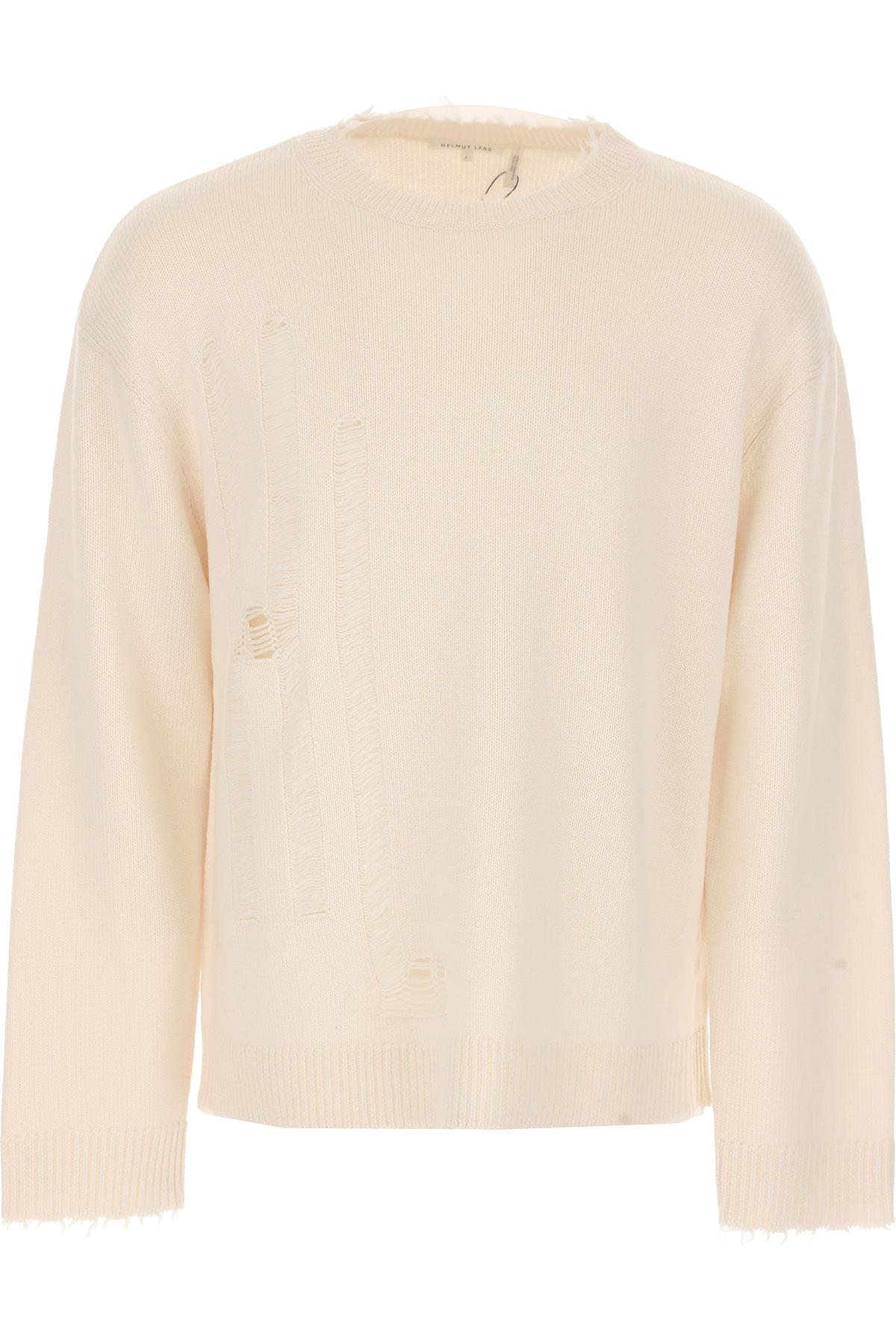 Image of Helmut Lang Sweater for Men Jumper, White, Wool, 2017, L M