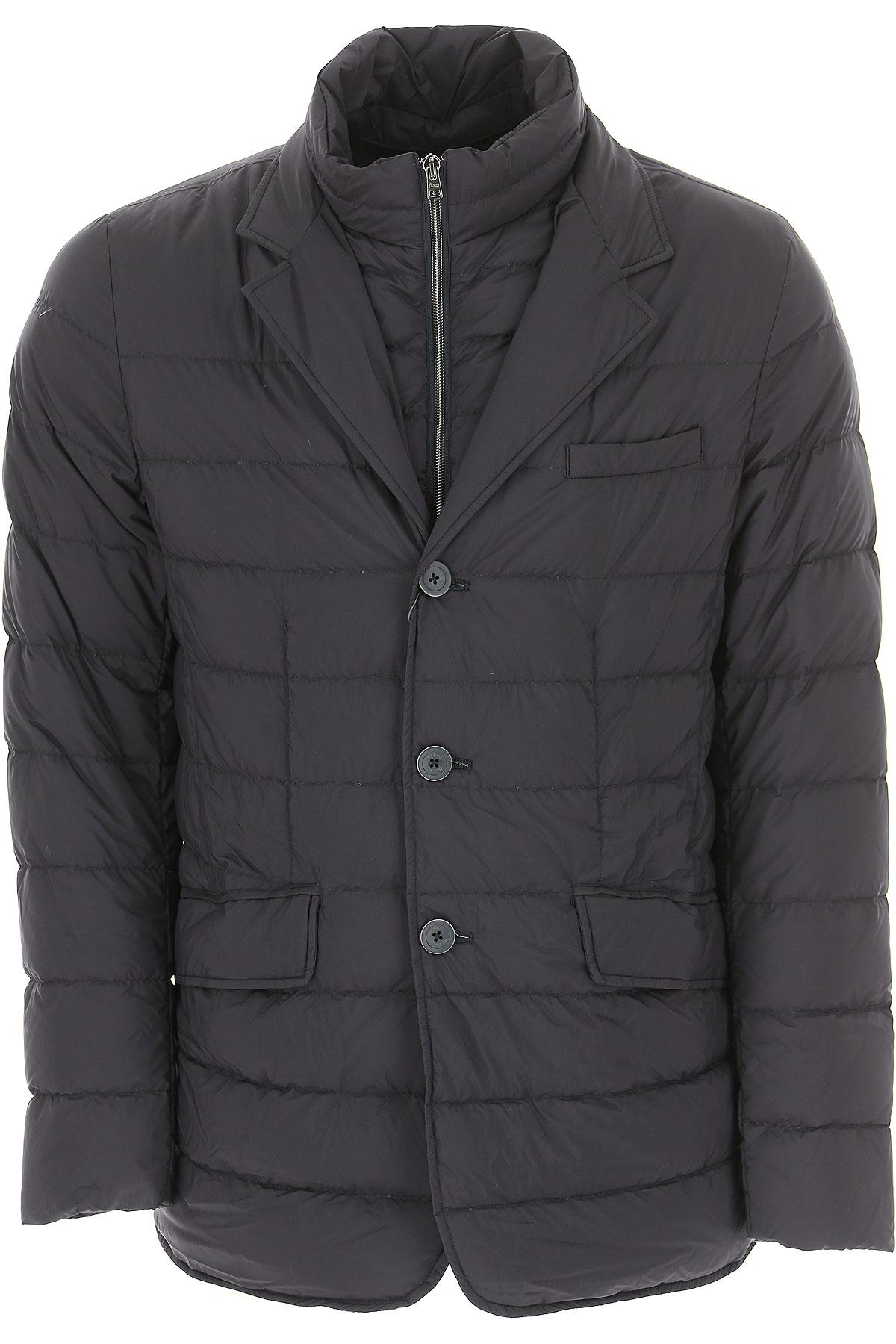 Herno Down Jacket for Men, Puffer Ski Jacket On Sale, Dark Navy Blue, Down, 2019, L M XL XXL