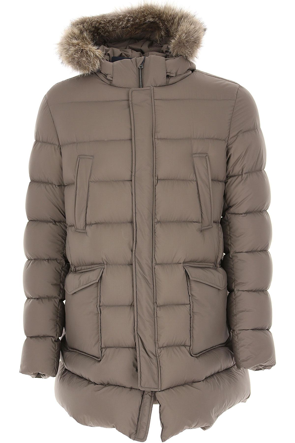 Herno Down Jacket for Men, Puffer Ski Jacket On Sale, Turtle Dove, polyamide, 2019, L XL