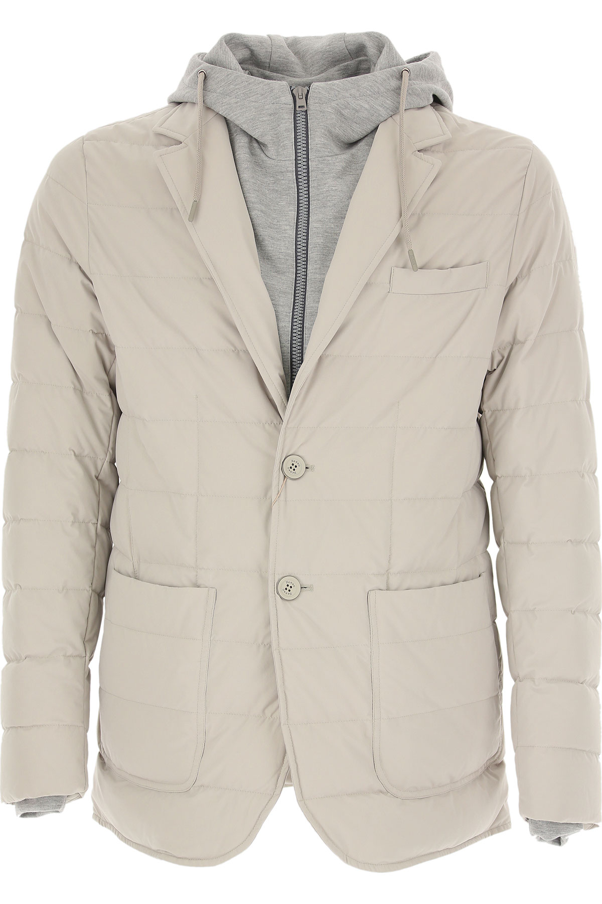 Herno Down Jacket for Men, Puffer Ski Jacket On Sale, Light Grey, polyester, 2019, M XXL