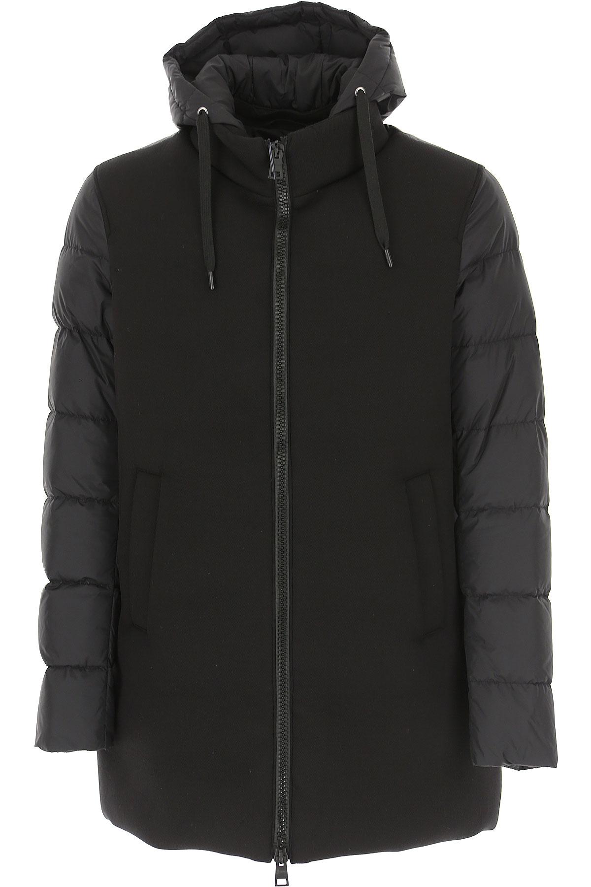 Herno Down Jacket for Men, Puffer Ski Jacket On Sale, Black, Down, 2019, L XL