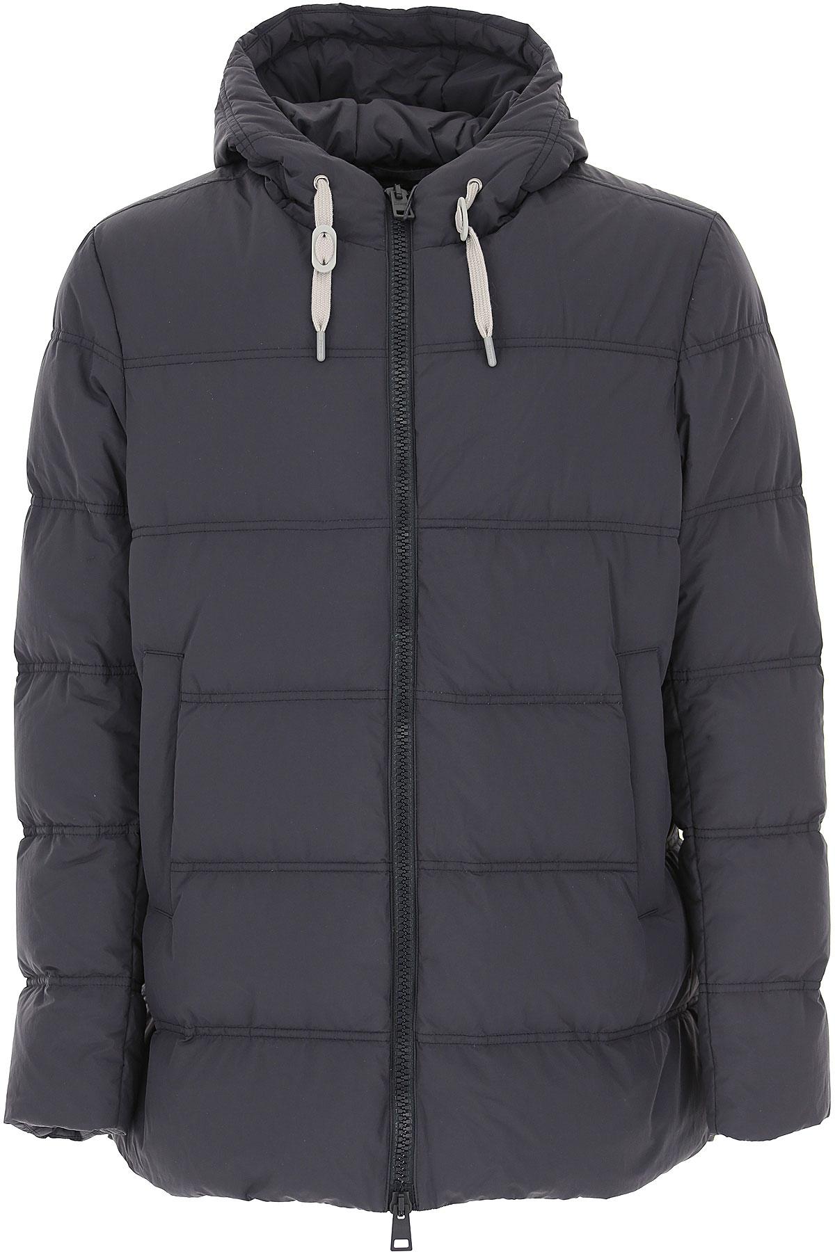 Herno Down Jacket for Men, Puffer Ski Jacket On Sale, Dark Ocean Blue, Down, 2019, L XL XXL