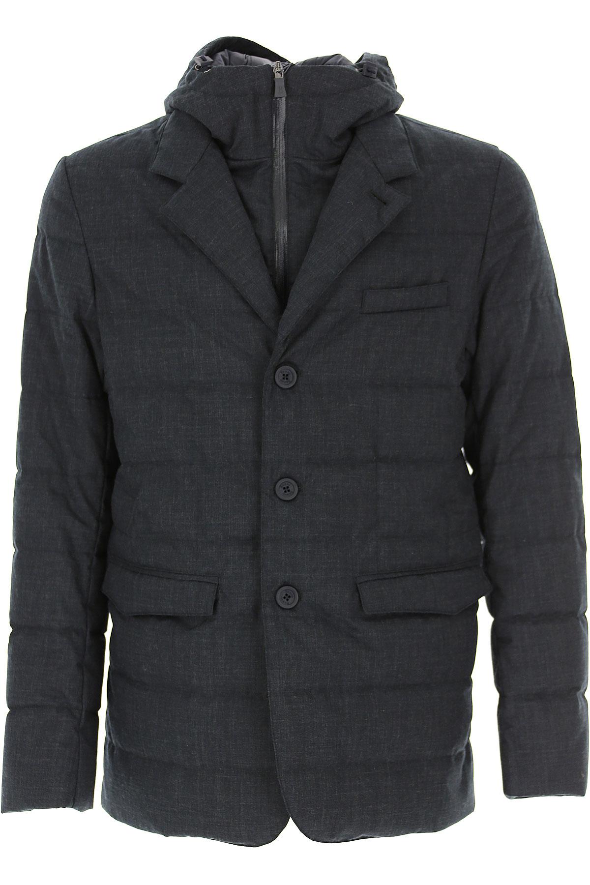 Herno Down Jacket for Men, Puffer Ski Jacket On Sale, Ocean Blue, Down, 2019, L M XL XXXL