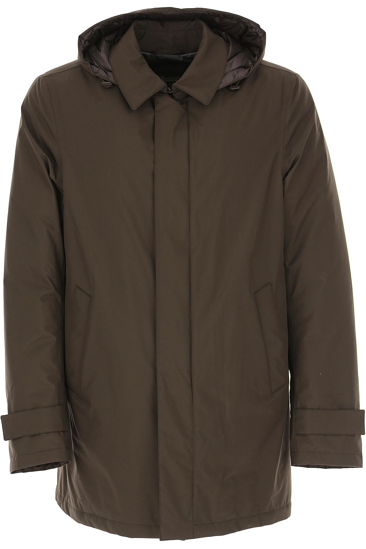 Herno Down Jacket for Men, Puffer Ski Jacket On Sale, Dark Cacao, polyester, 2019, L M S XL XXXL