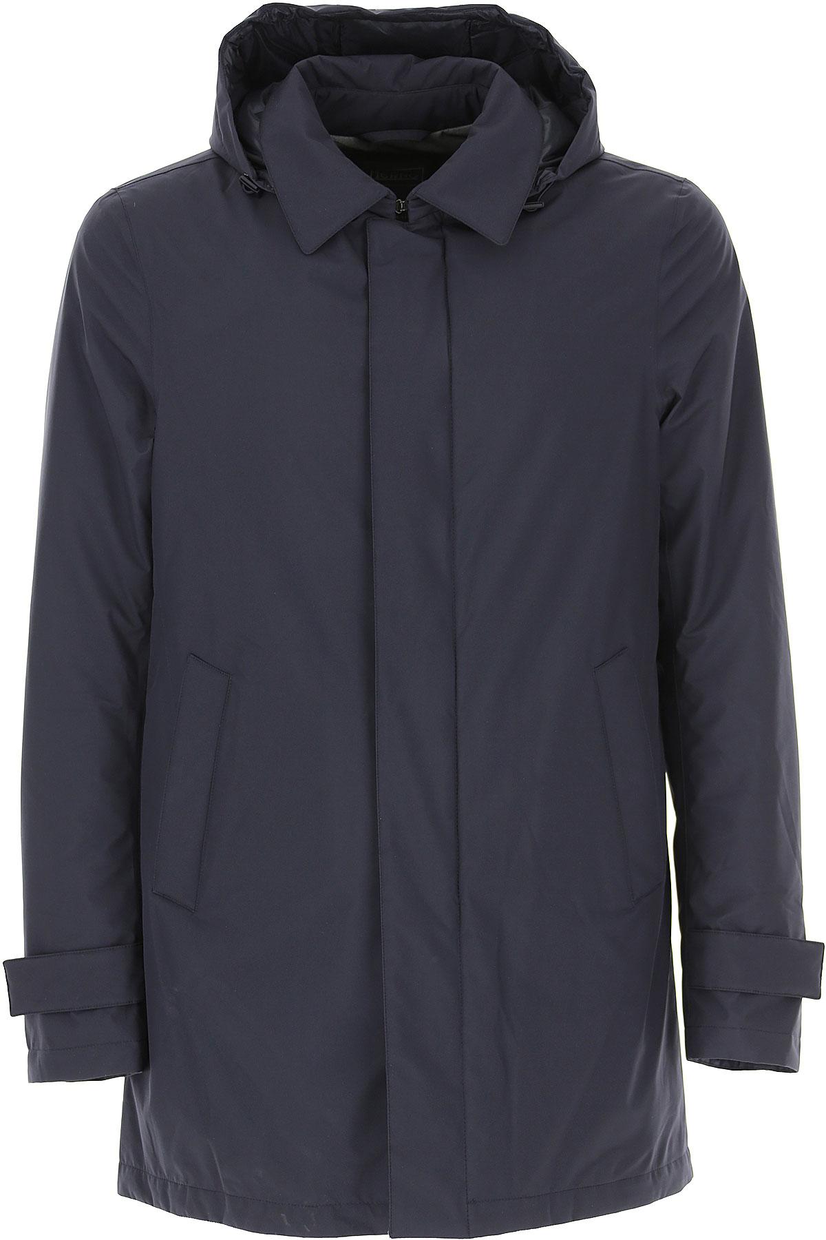 Herno Down Jacket for Men, Puffer Ski Jacket On Sale, Blue Ink, polyester, 2019, L M S XXL XXXL