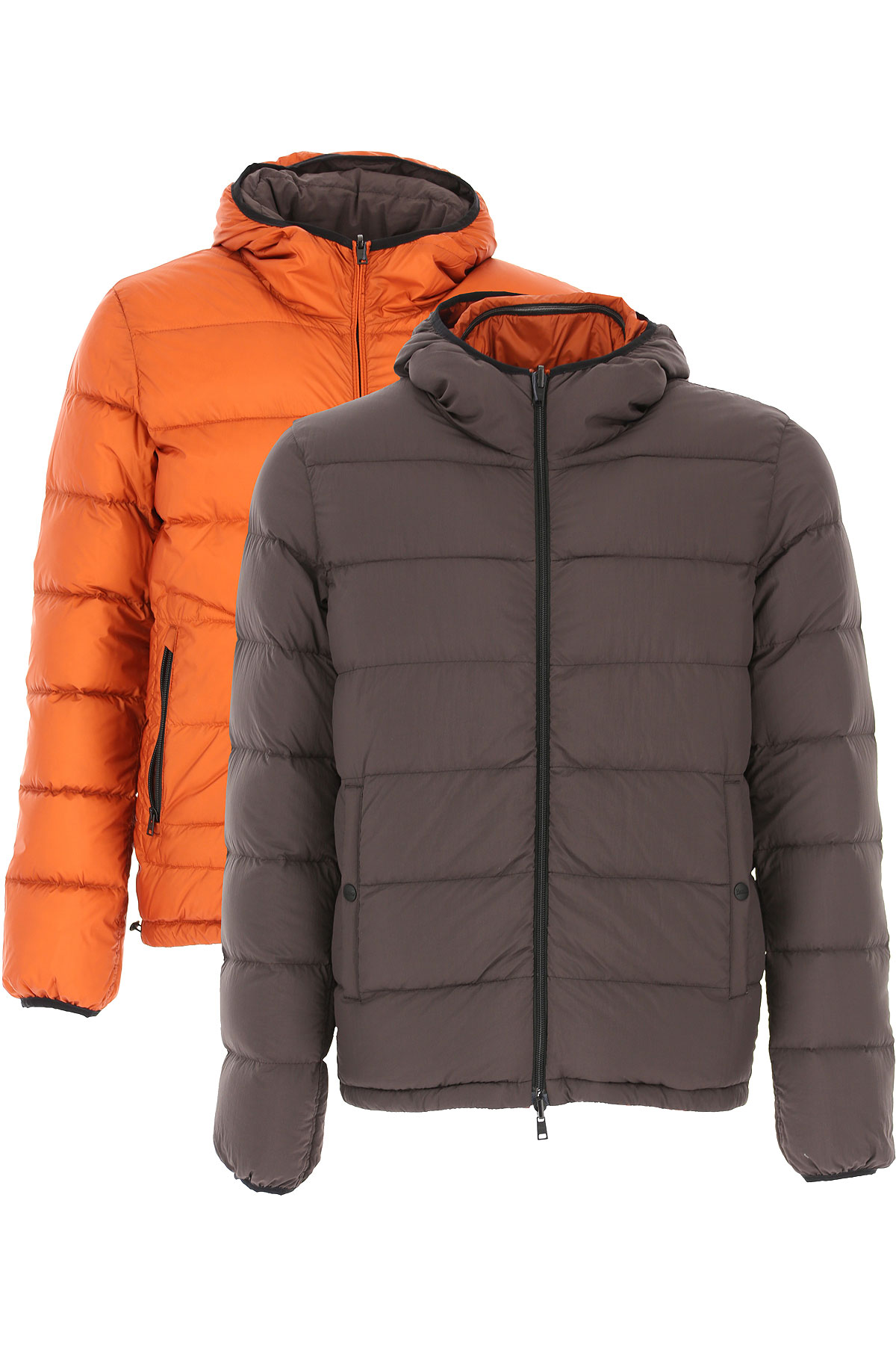 Herno Down Jacket for Men, Puffer Ski Jacket On Sale, Brown, polyamide, 2019, L XL