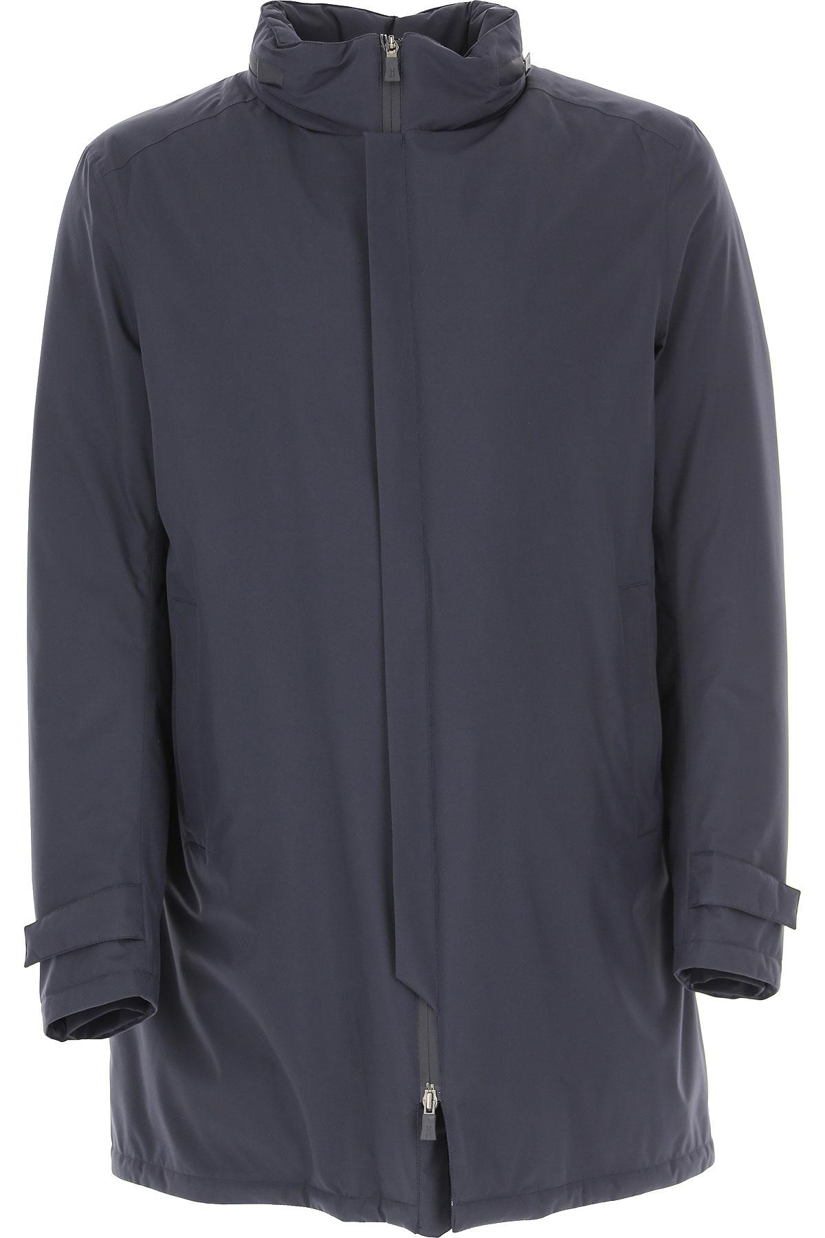 Herno Down Jacket for Men, Puffer Ski Jacket On Sale, Navy Blue, polyestere, 2019, L M XL