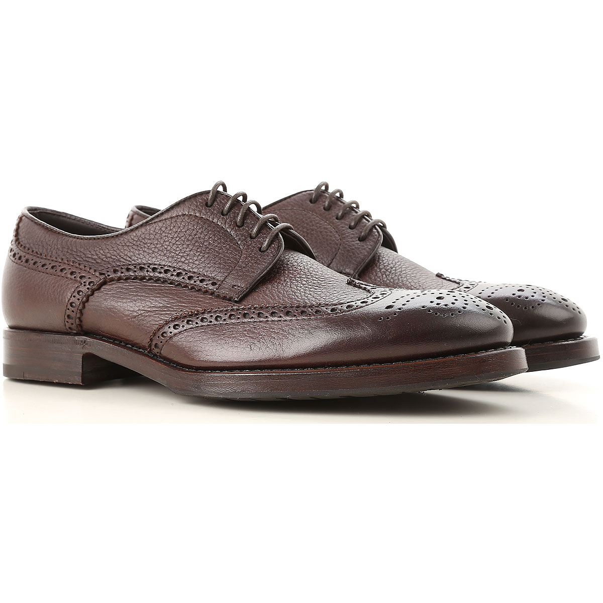 Image of Henderson Lace Up Shoes for Men Oxfords, Derbies and Brogues, Dark Brown, Leather, 2017, 10 10.5 11 11.5 6 7 7.5 8 8.5 9 9.5