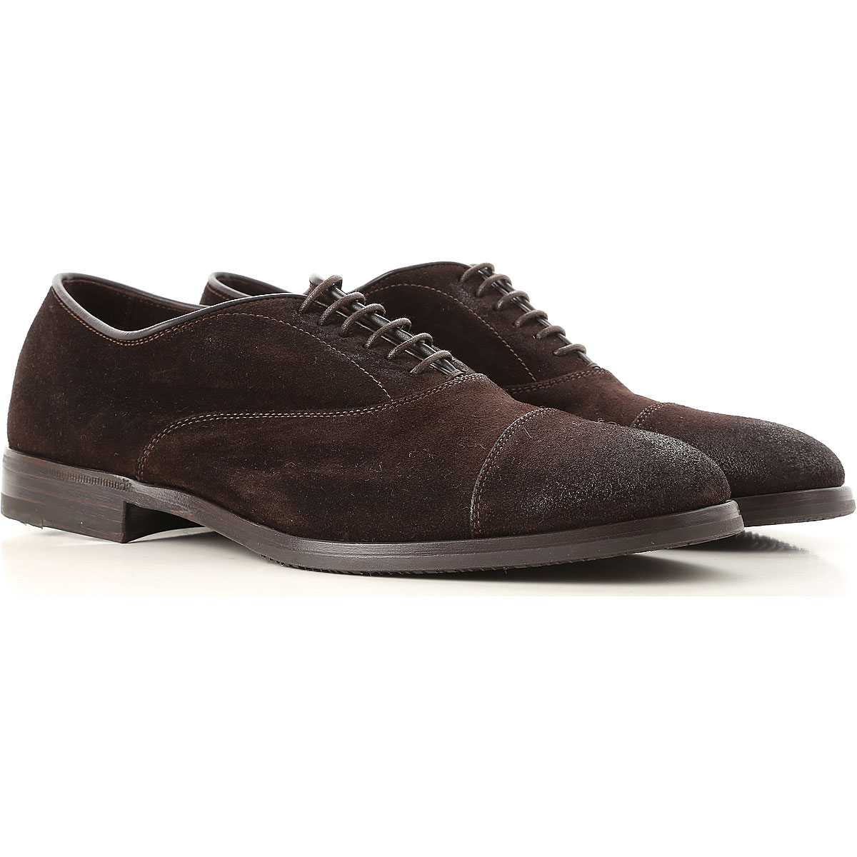 Image of Henderson Lace Up Shoes for Men Oxfords, Derbies and Brogues, Dark Brown, suede, 2017, 10 10.5 11 11.5 7 7.5 8 8.5 9 9.5