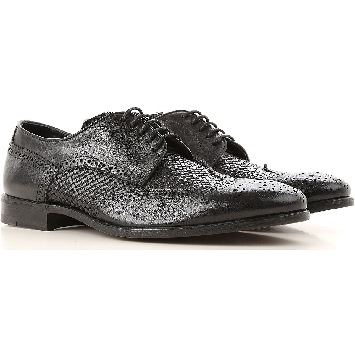 Henderson Lace Up Shoes for Men Oxfords, Derbies and Brogues On Sale, Black, Leather, 2019, 10 11 11.5 7 9.5