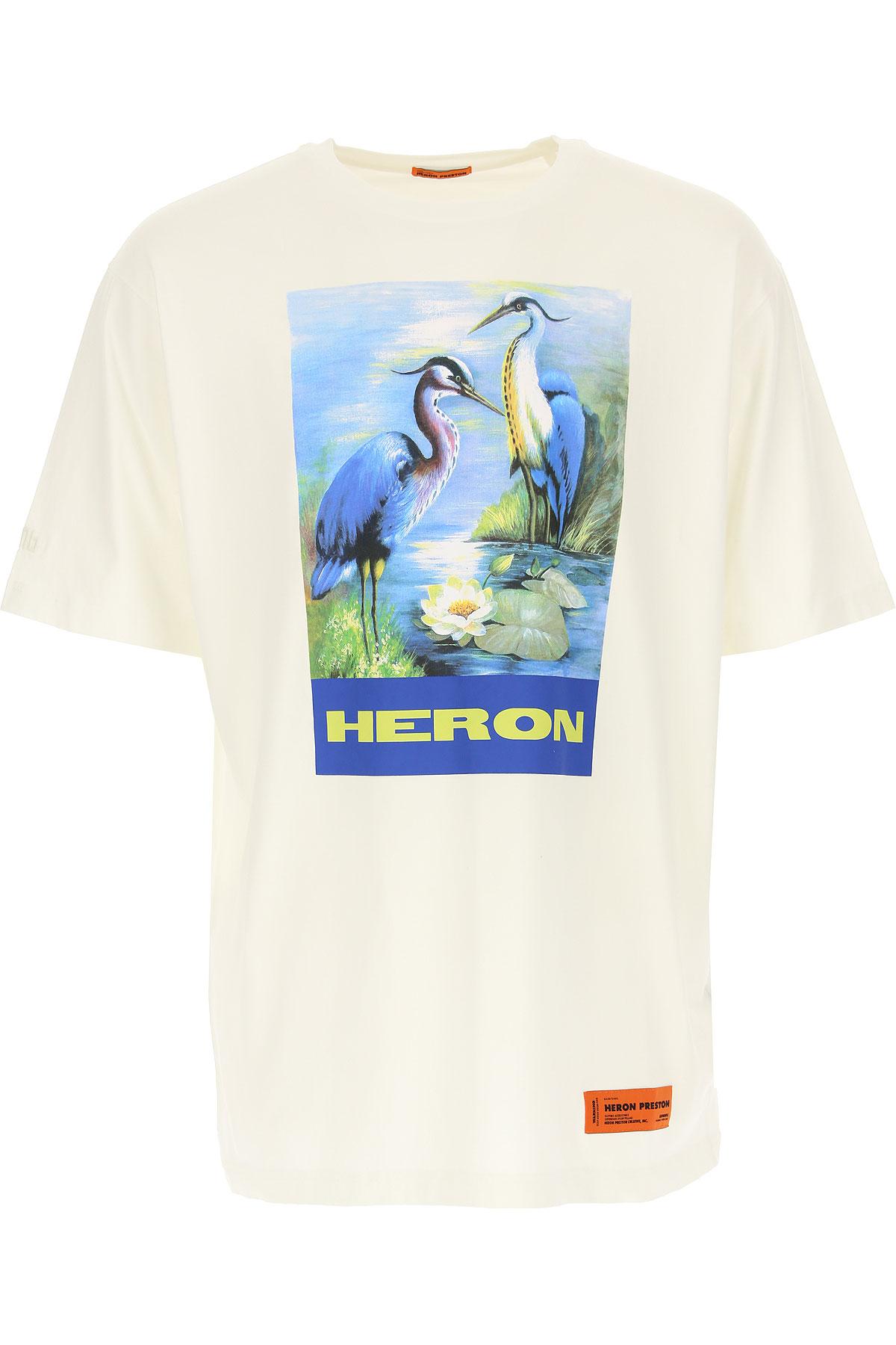 Heron Preston T-Shirt for Men On Sale, White, Cotton, 2019, L M