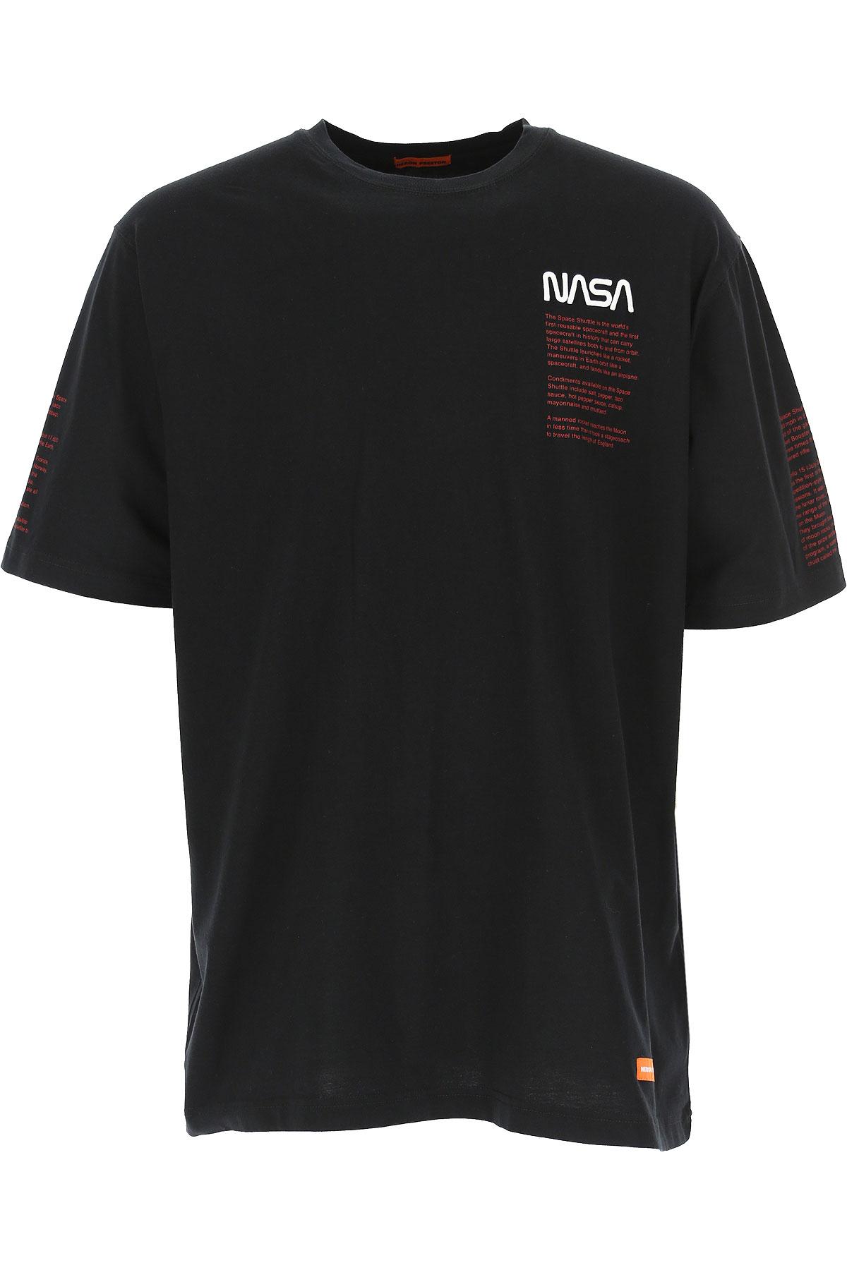 Heron Preston T-Shirt for Men, Black, Cotton, 2019, L M