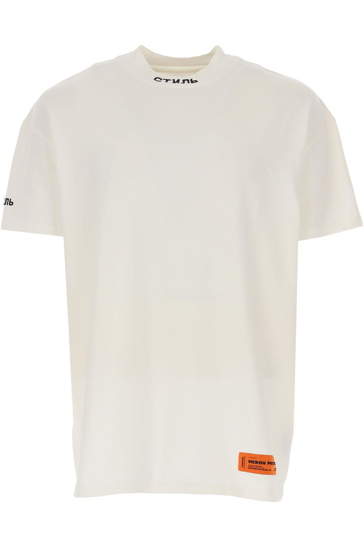 Heron Preston T-Shirt for Men, White, Cotton, 2019, L S