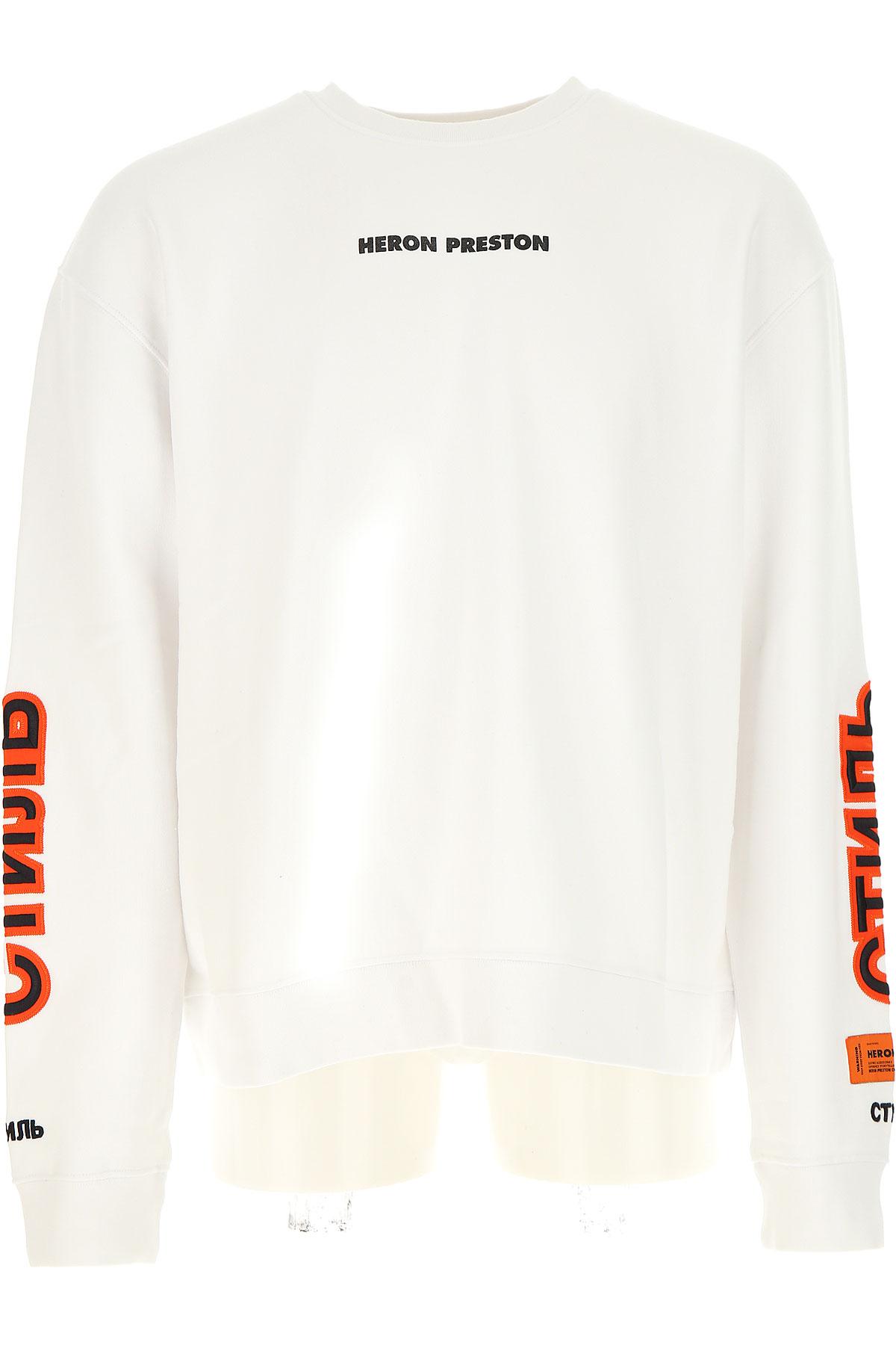 Image of Heron Preston Sweatshirt for Men, White, Cotton, 2017, L M XL