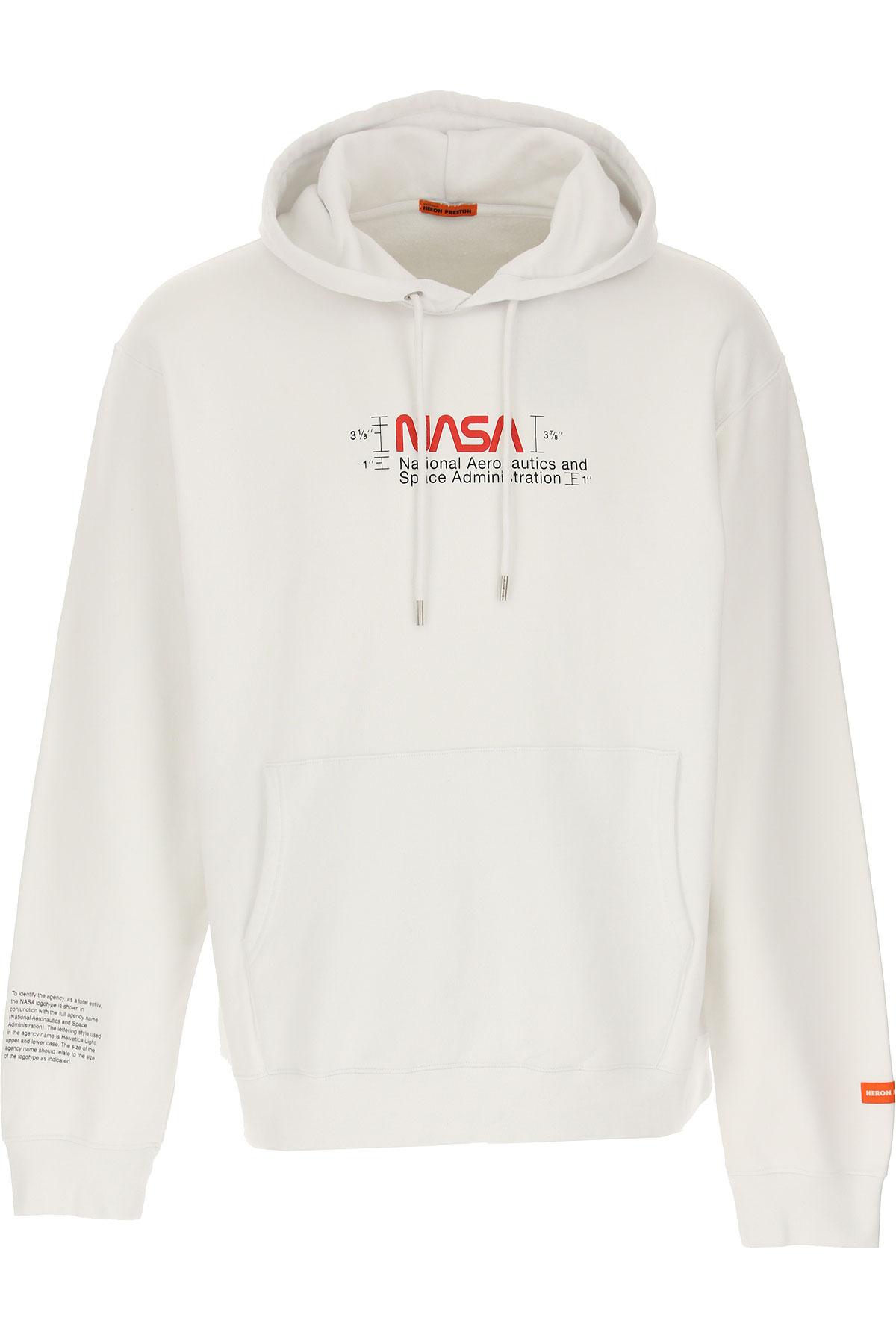 Heron Preston Sweatshirt for Men On Sale, White, Cotton, 2019, L XL