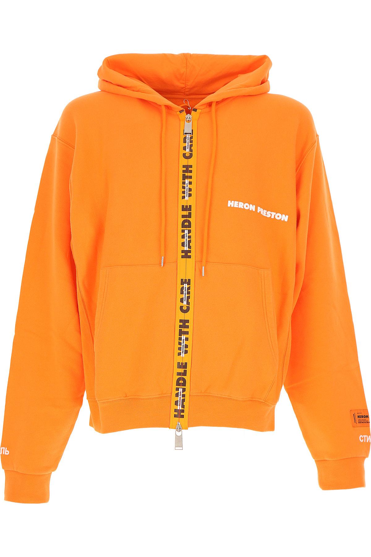 Image of Heron Preston Sweatshirt for Men, neon orange, Cotton, 2017, L M XL
