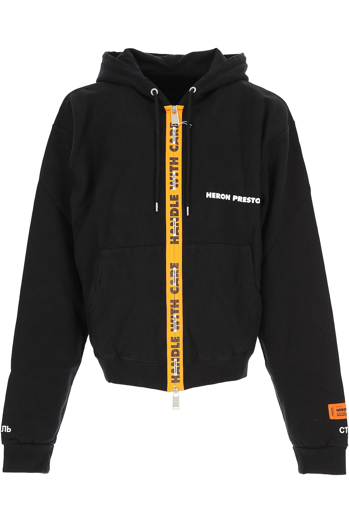 Image of Heron Preston Sweatshirt for Men, Black, Cotton, 2017, L M S