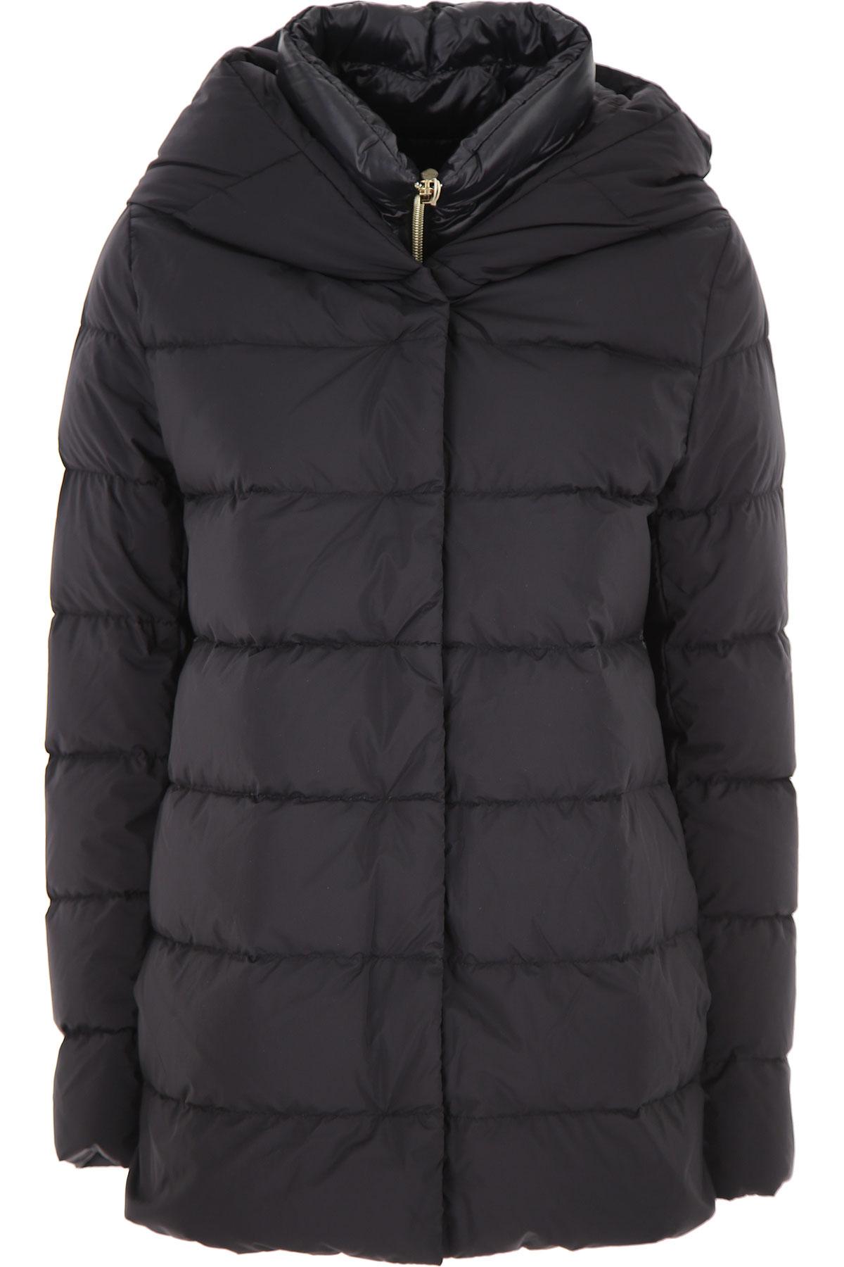 Herno Down Jacket for Women, Puffer Ski Jacket On Sale, Black, Down, 2019, 10 8