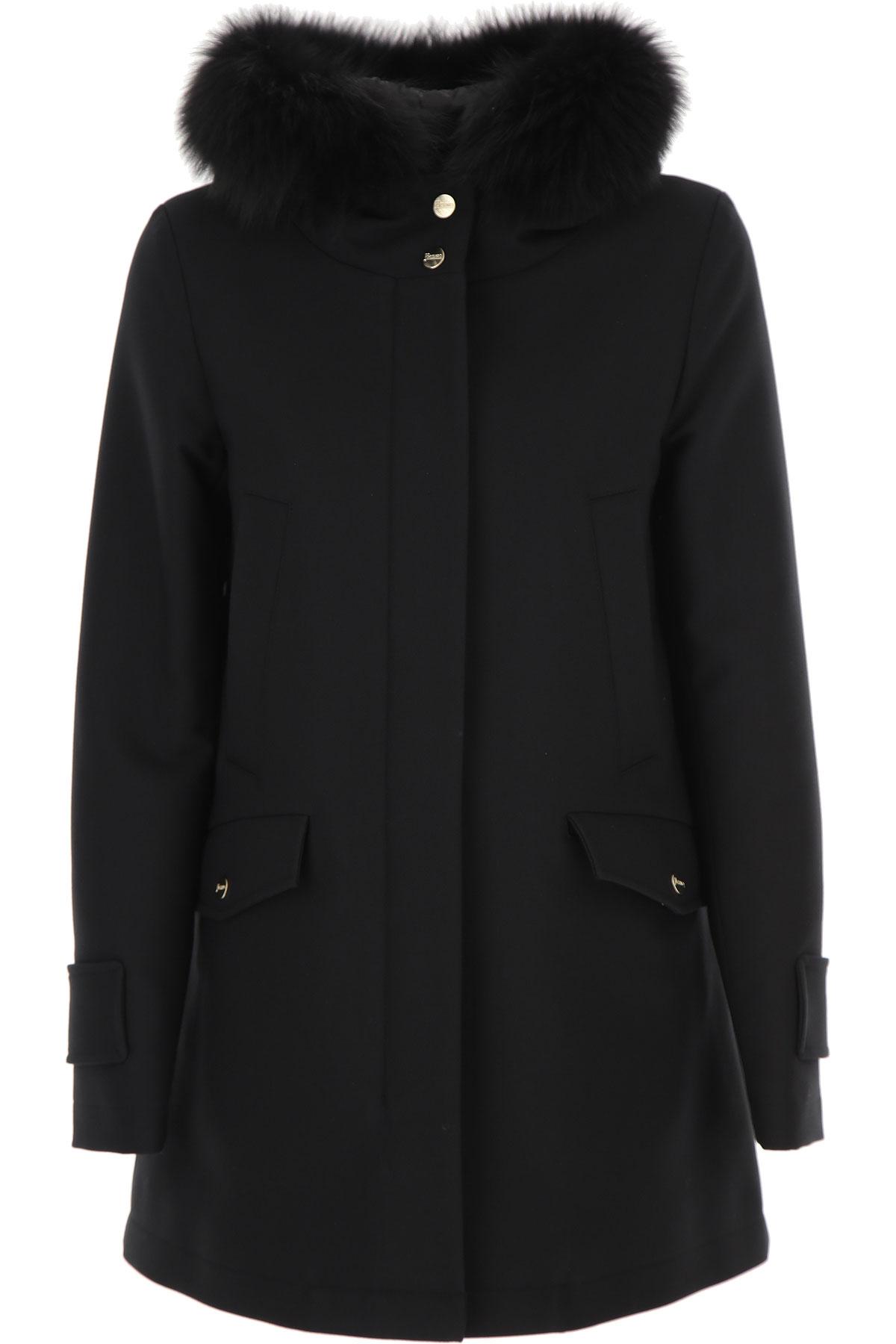 Herno Down Jacket for Women, Puffer Ski Jacket On Sale, Black, Cotton, 2019, 10 4 6 8