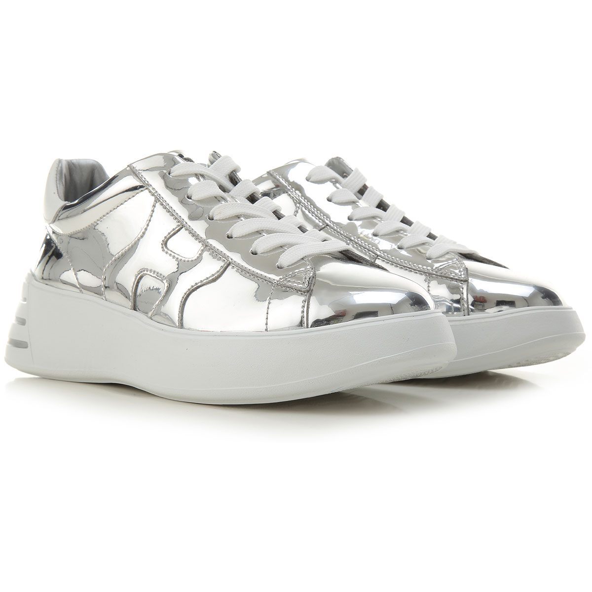 Must Have Hogan Sneakers for Women, Silver, Patent, 2021, 10 6 6.5 ...