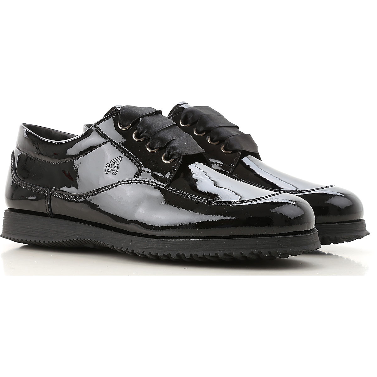 Image of Hogan Lace Up Shoes for Men Oxfords, Derbies and Brogues, Black, Patent Leather, 2017, 6 7 8 9