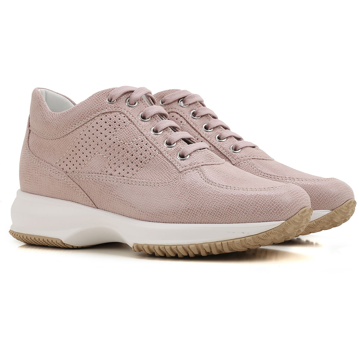Hogan Sneakers for Women, Powder Pink, Leather, 2017, 10 6.5 8.5 9