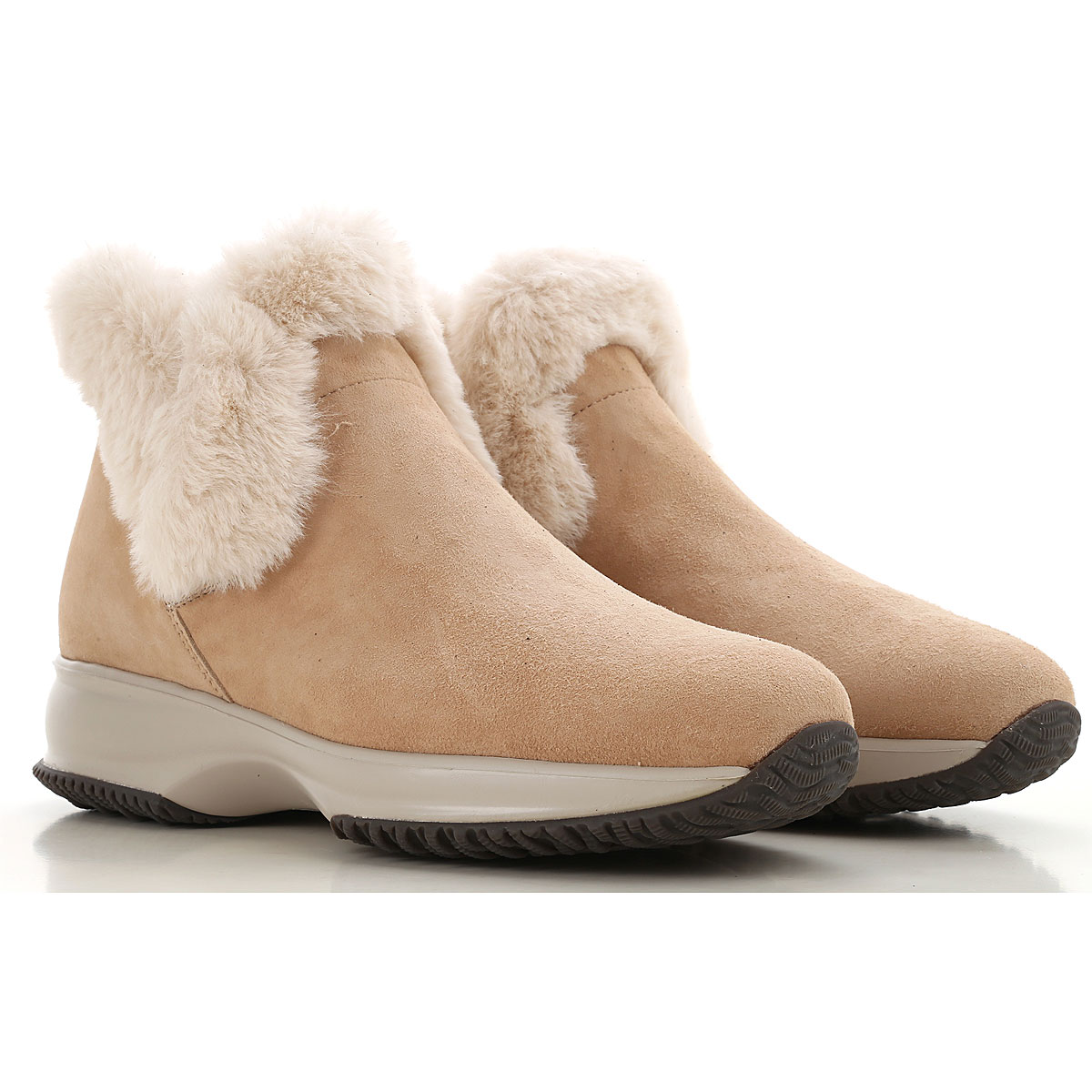 Hogan Boots for Women, Booties, Beige, suede, 2019, 10 5 5.5 6 6.5 7 8 9