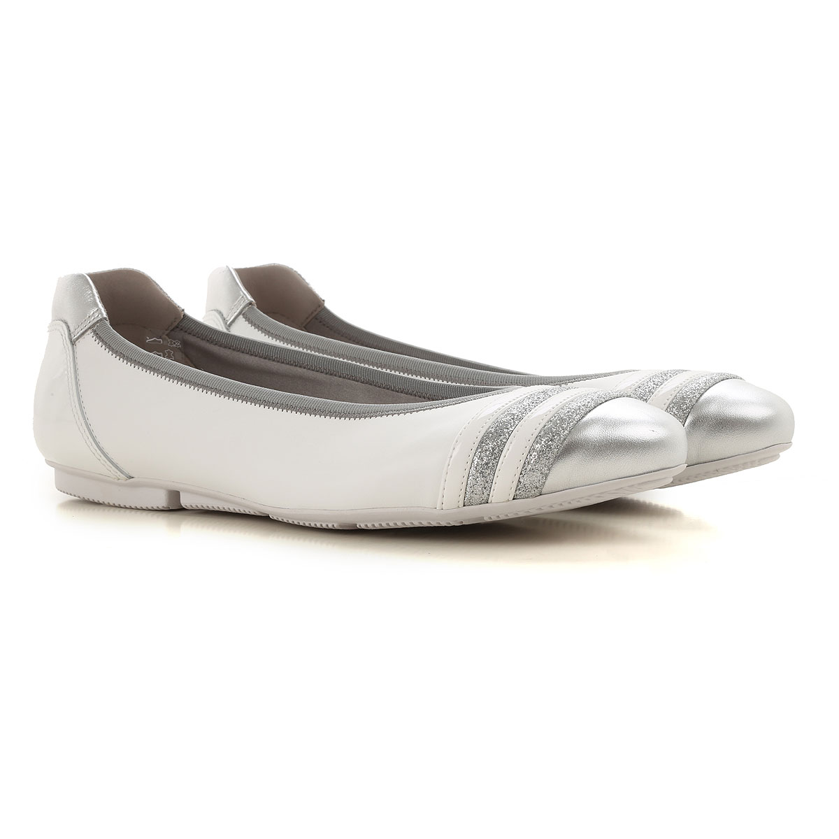 Hogan Ballet Flats Ballerina Shoes for Women On Sale, White, Leather, 2019, 5.5 6 6.5 8.5