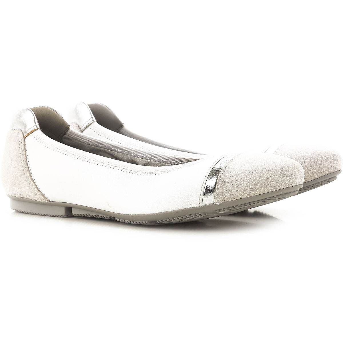 Hogan Ballet Flats Ballerina Shoes for Women On Sale in Outlet, White, Leather, 2019, 5 5.5