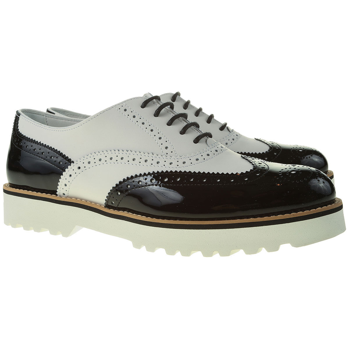 Hogan Brogues Oxford Shoes On Sale in Outlet, White, Leather, 2019, 6.5 8