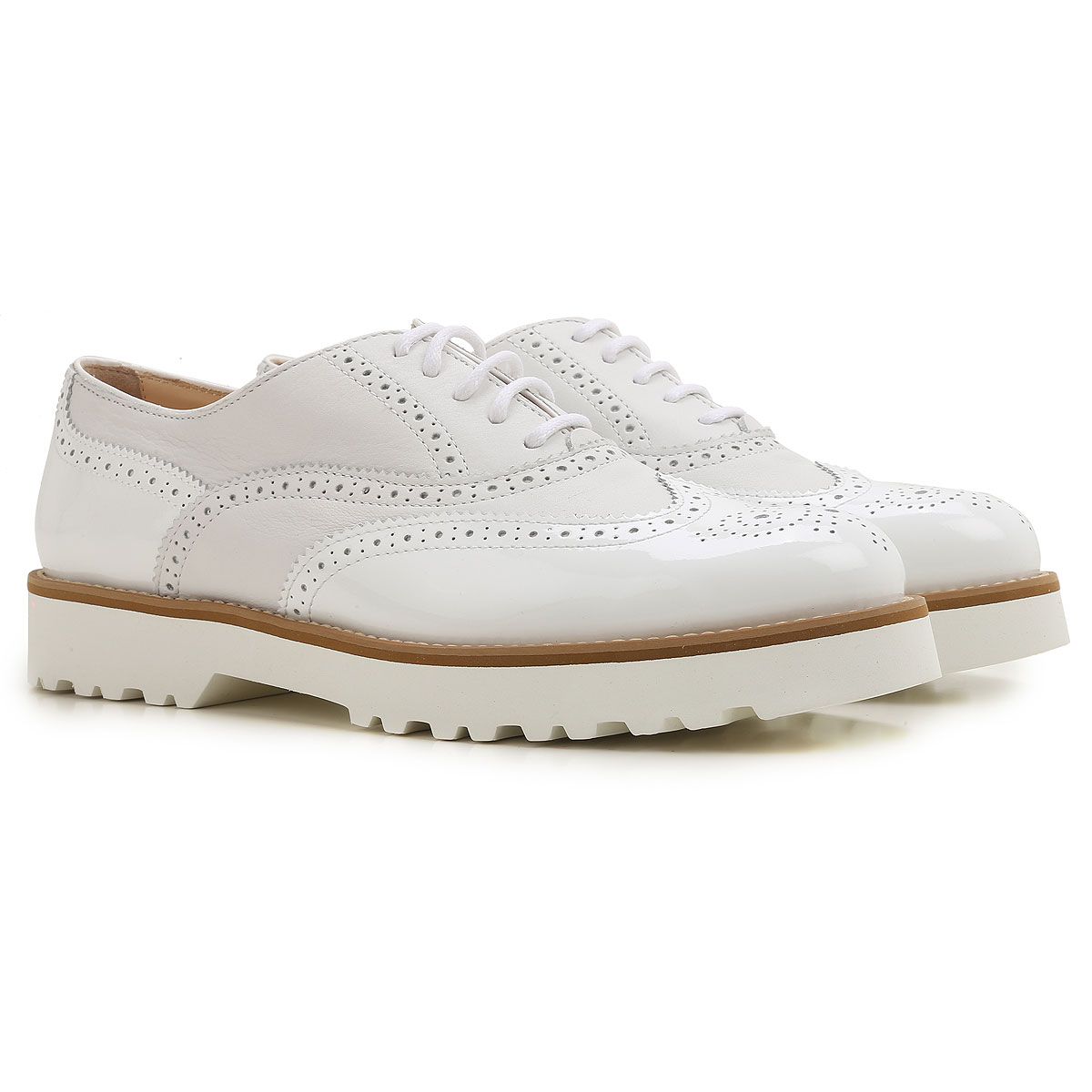 Image of Hogan Brogues Oxford Shoes On Sale in Outlet, White, Patent Leather, 2017, 5 5.5 6 6.5 9