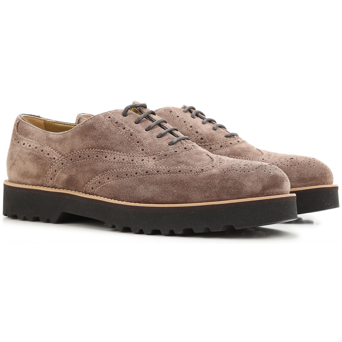 Image of Hogan Brogues Oxford Shoes On Sale in Outlet, Swamp, suede, 2017, 6.5 9