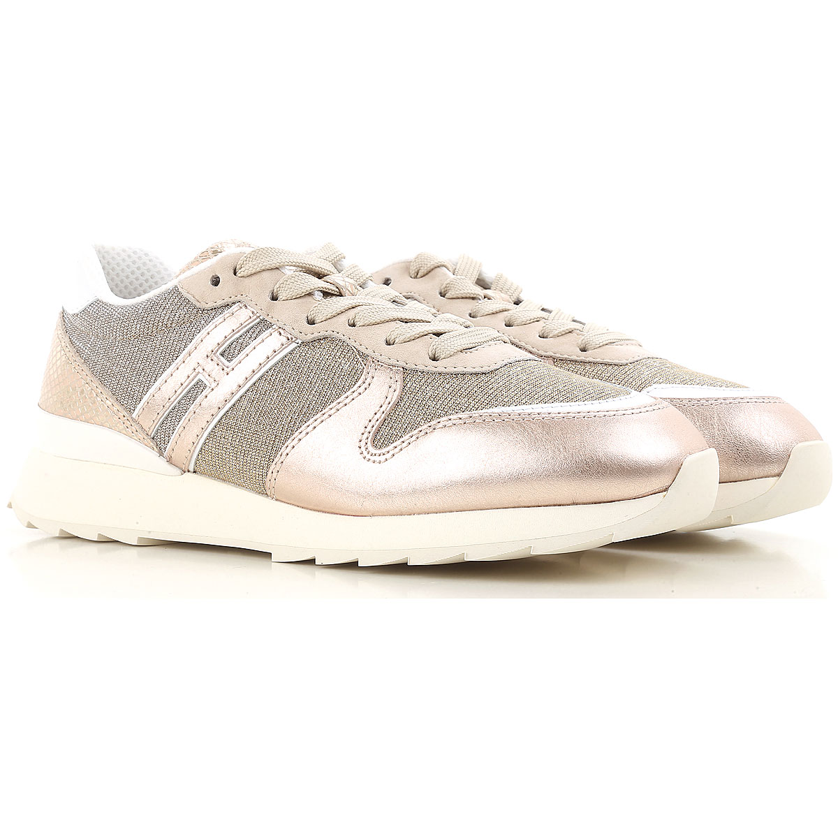 Hogan Sneakers for Women, Golden Pink, Leather, 2017, 10 6 7 8 9
