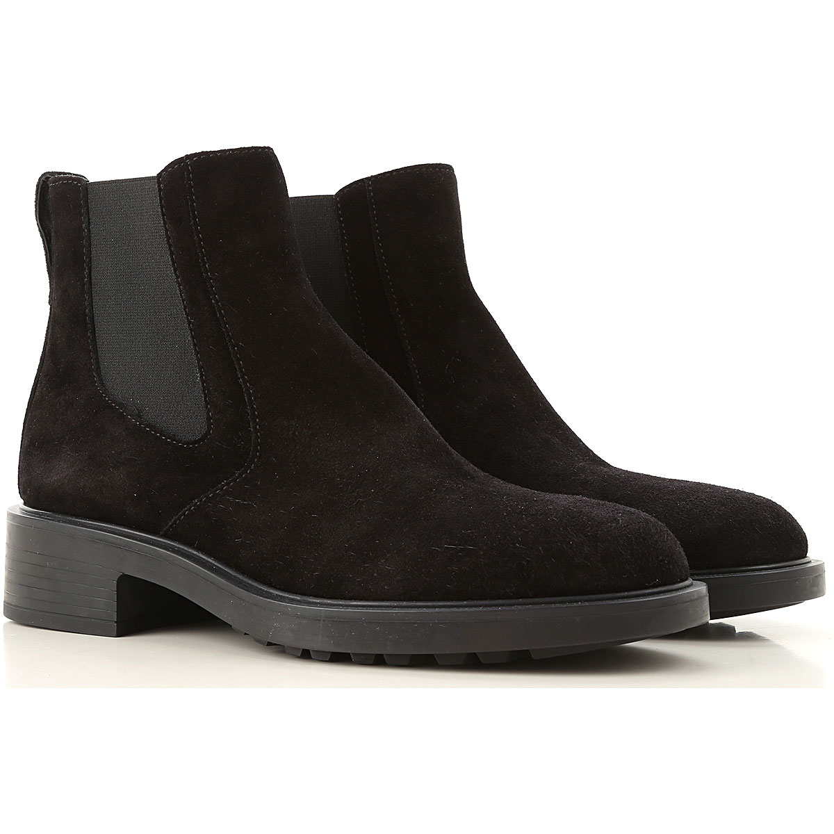 Hogan Boots for Women, Booties On Sale, Black, Suede leather, 2019, 10 8 8.5
