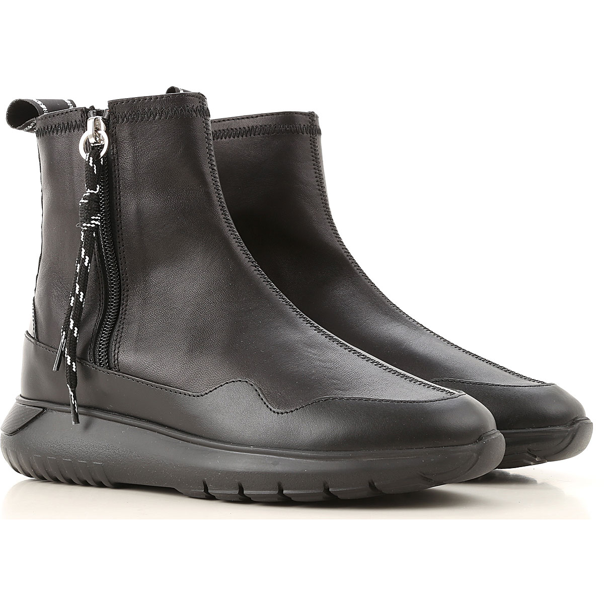 Hogan Boots for Women, Booties On Sale, Black, Leather, 2019, 5 5.5 6 6.5 7 8 8.5 9 9.5