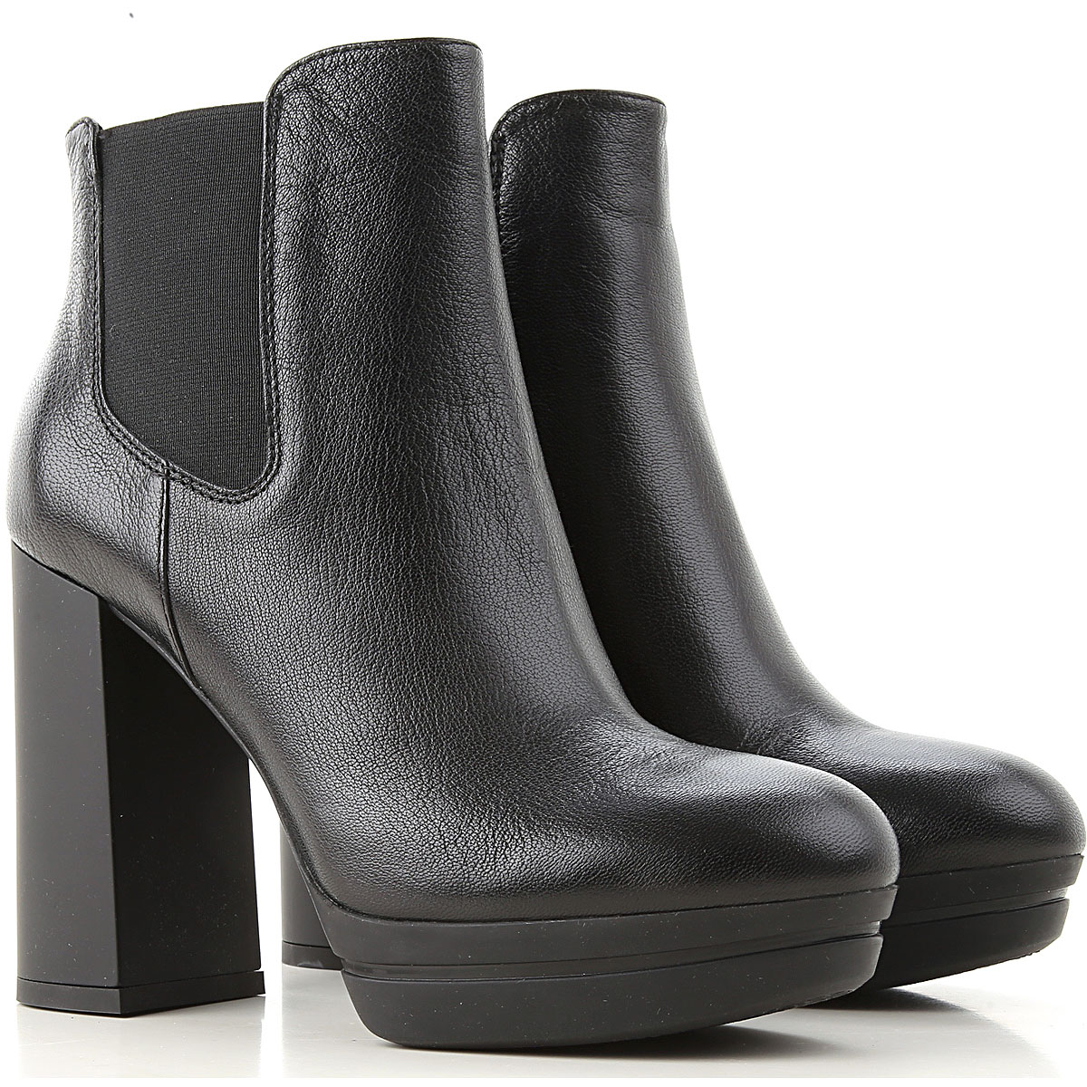 Hogan Chelsea Boots for Women On Sale, Black, Leather, 2019, 10 5.5 8 9